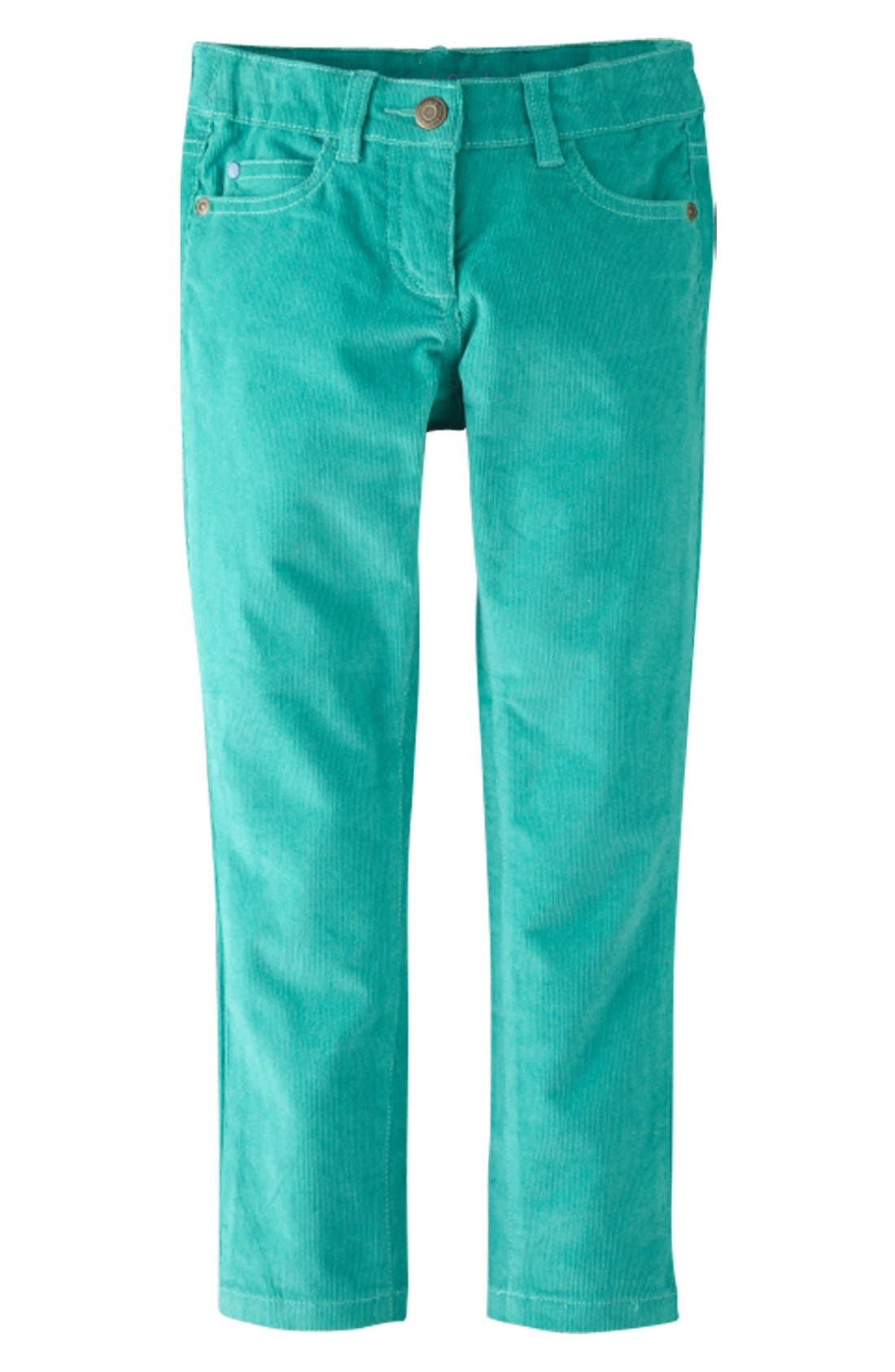 Main Image - Mini Boden Slim Fit Corduroy Pants (Toddler Girls, Little Girls & Big Girls)