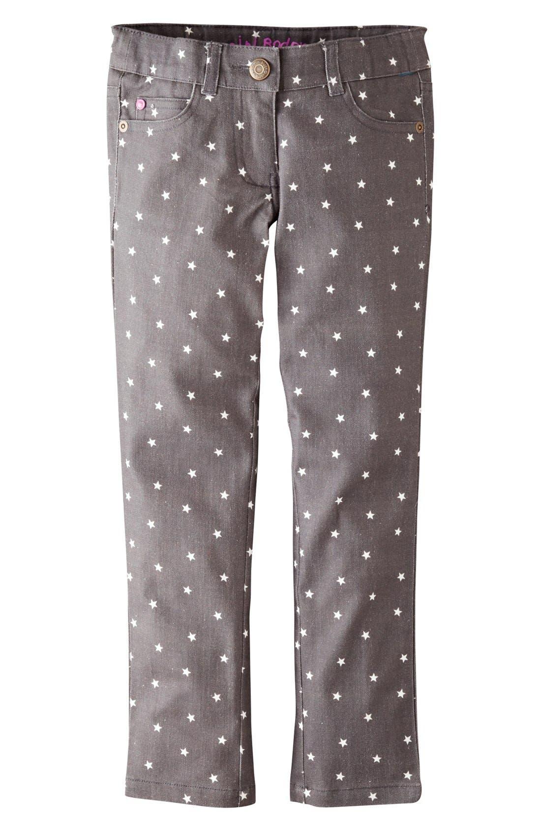 Main Image - Mini Boden Slim Fit Twill Pants (Toddler Girls)