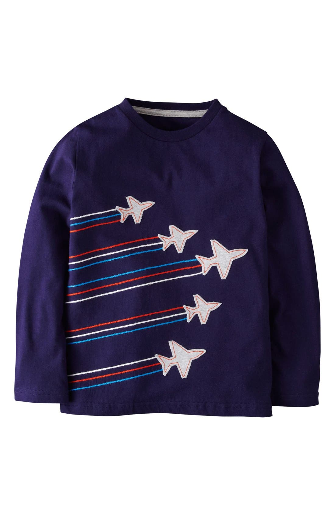Alternate Image 1 Selected - Mini Boden Embroidered Appliqué T-Shirt (Toddler Boys, Little Boys & Big Boys)