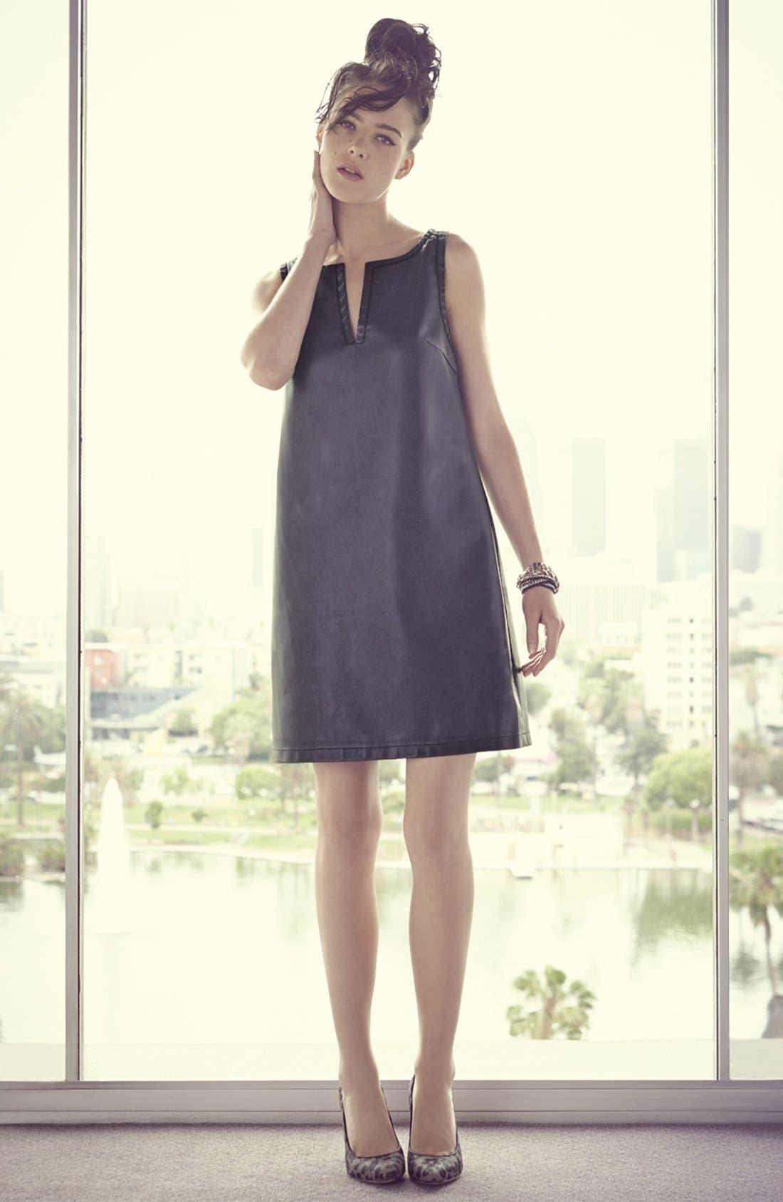 Alternate Image 4  - BB Dakota Faux Leather Shift Dress
