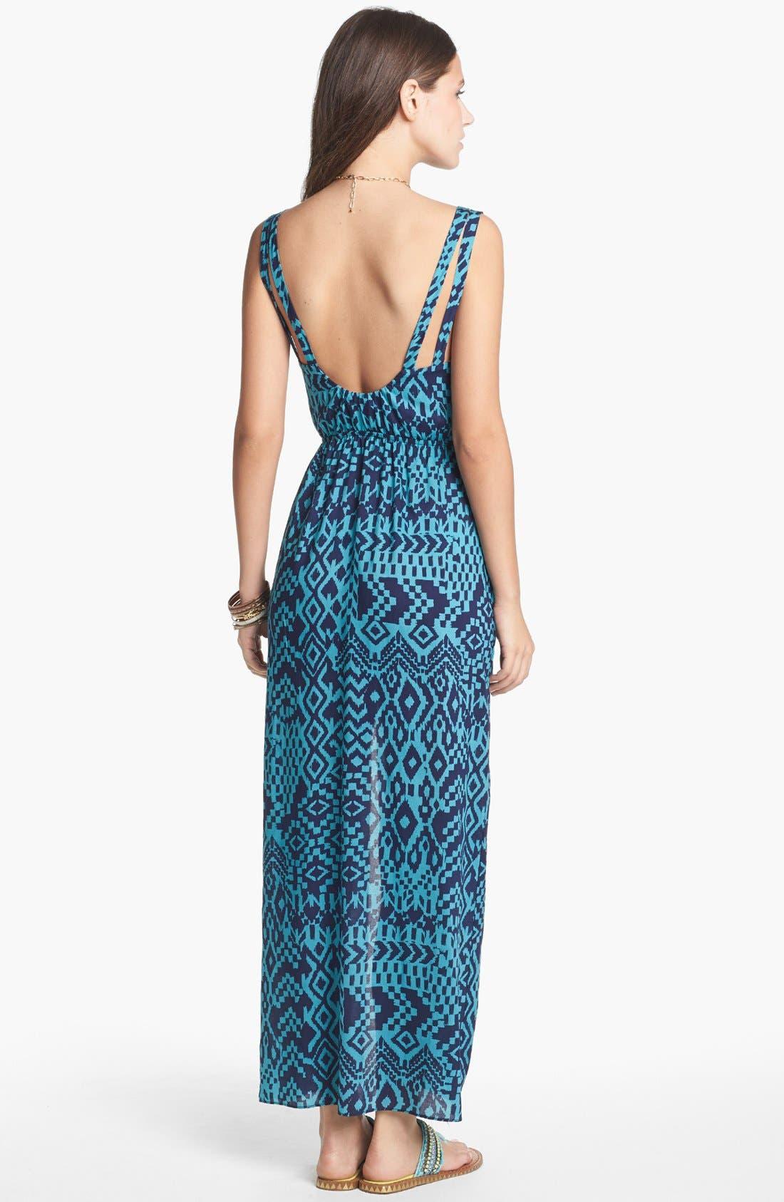 Alternate Image 2  - dee elle Double Strap Maxi Dress (Juniors)