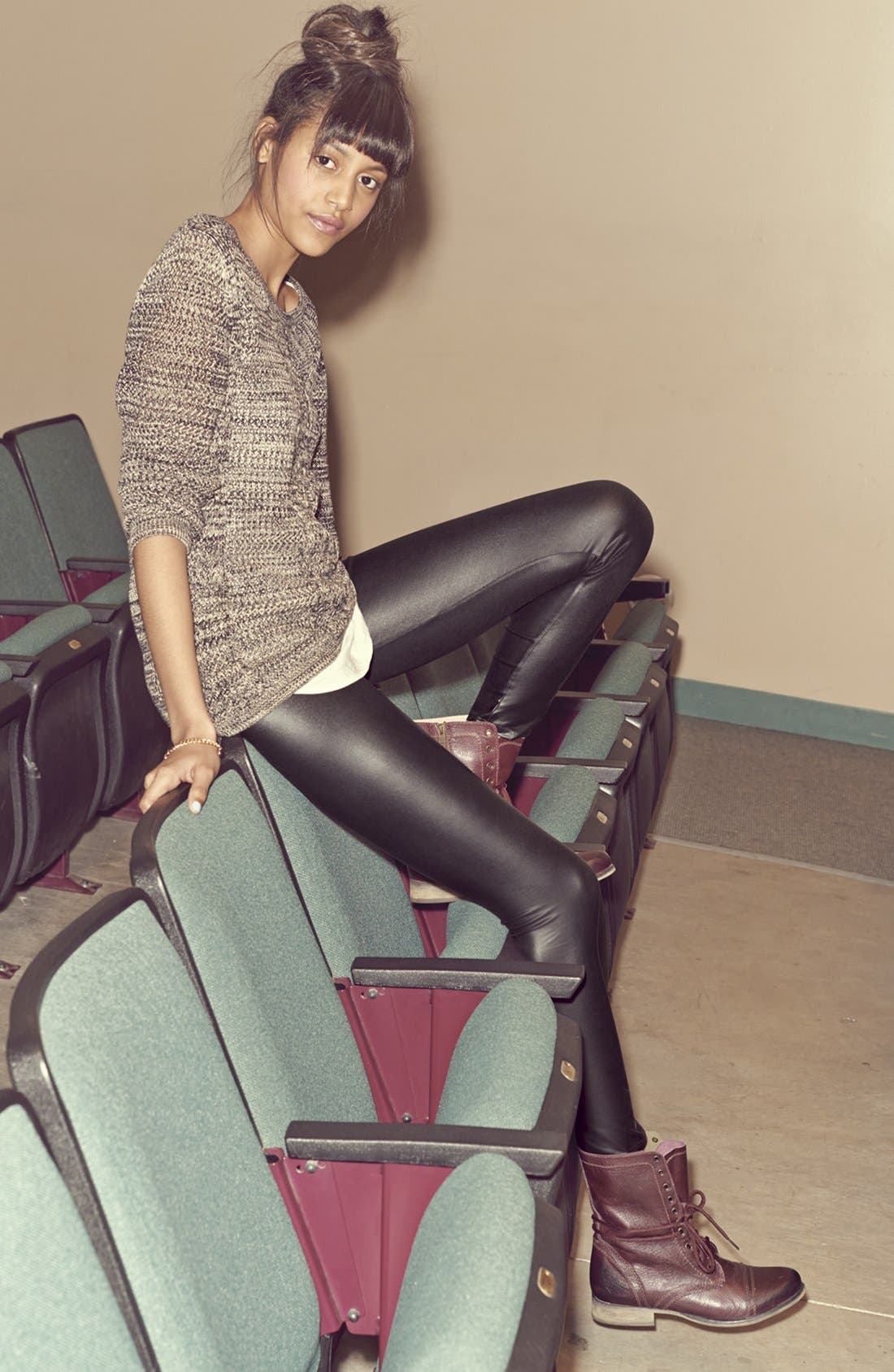 Alternate Image 1 Selected - Rubbish® Sweater & Mimi Chica Leggings