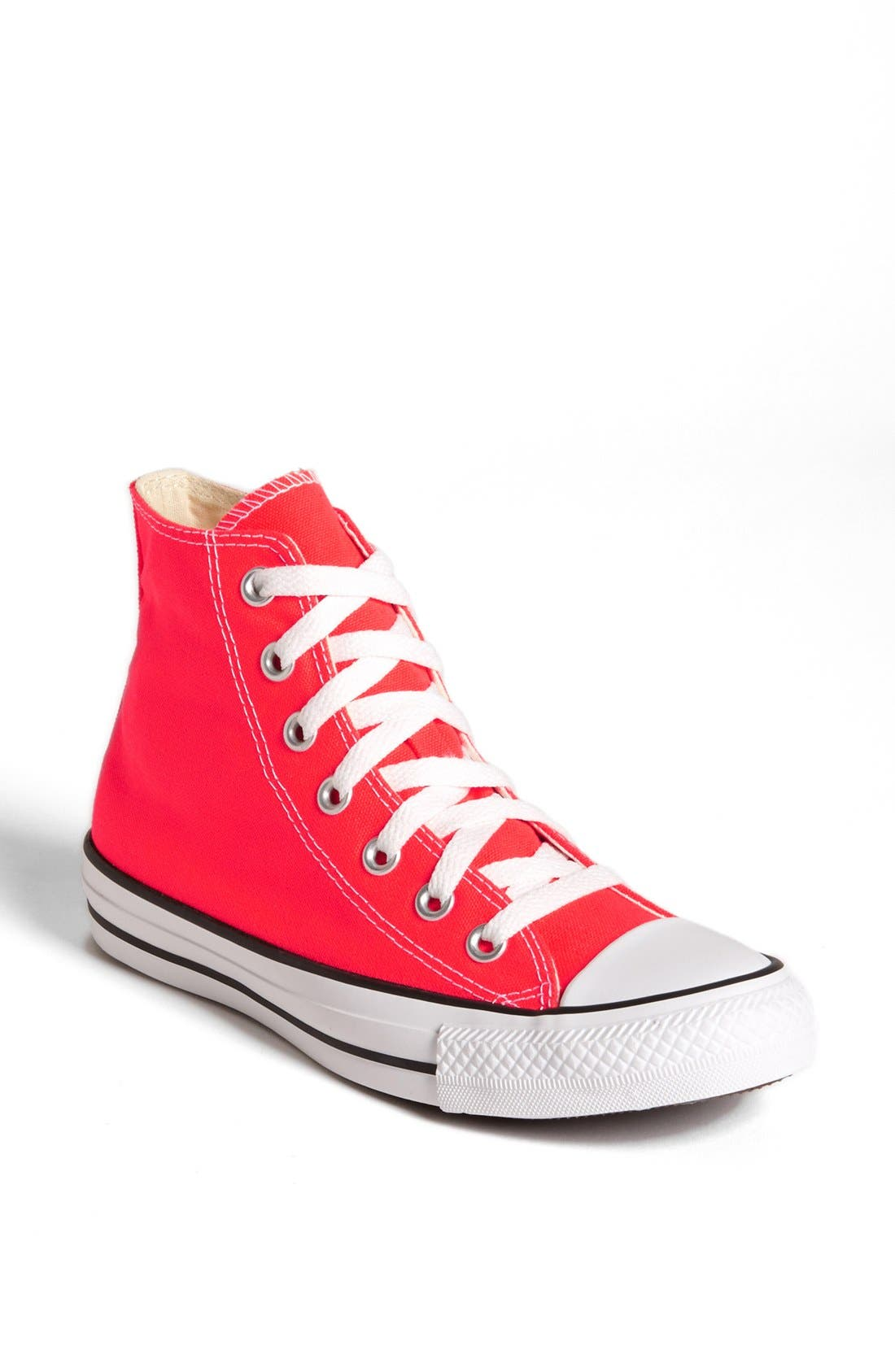 Alternate Image 1 Selected - Converse Chuck Taylor® All Star® 'Fiery Coral' High Top Sneaker (Women)