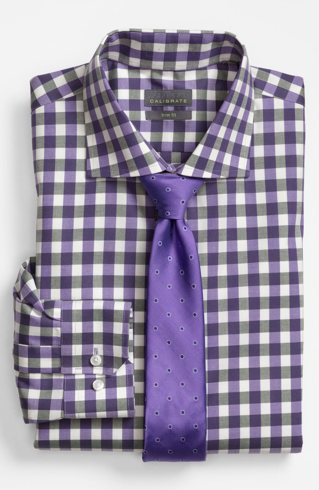 Alternate Image 3  - Calibrate Trim Fit Non-Iron Gingham Dress Shirt
