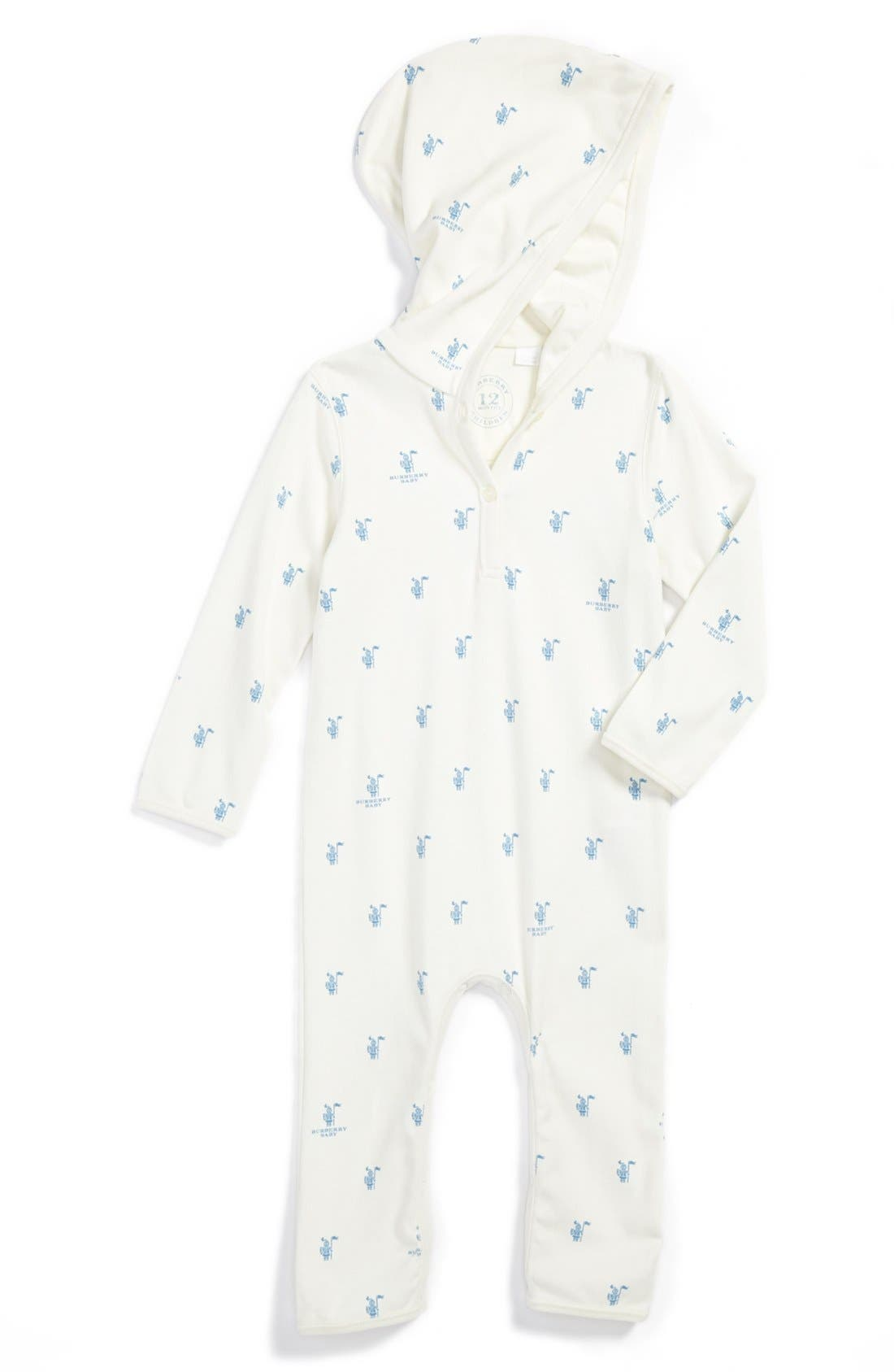 Alternate Image 1 Selected - Burberry 'Marlow' Romper (Baby Girls)