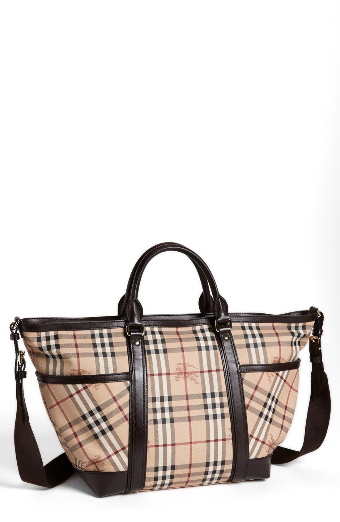 Main Image - Burberry Check Diaper Bag