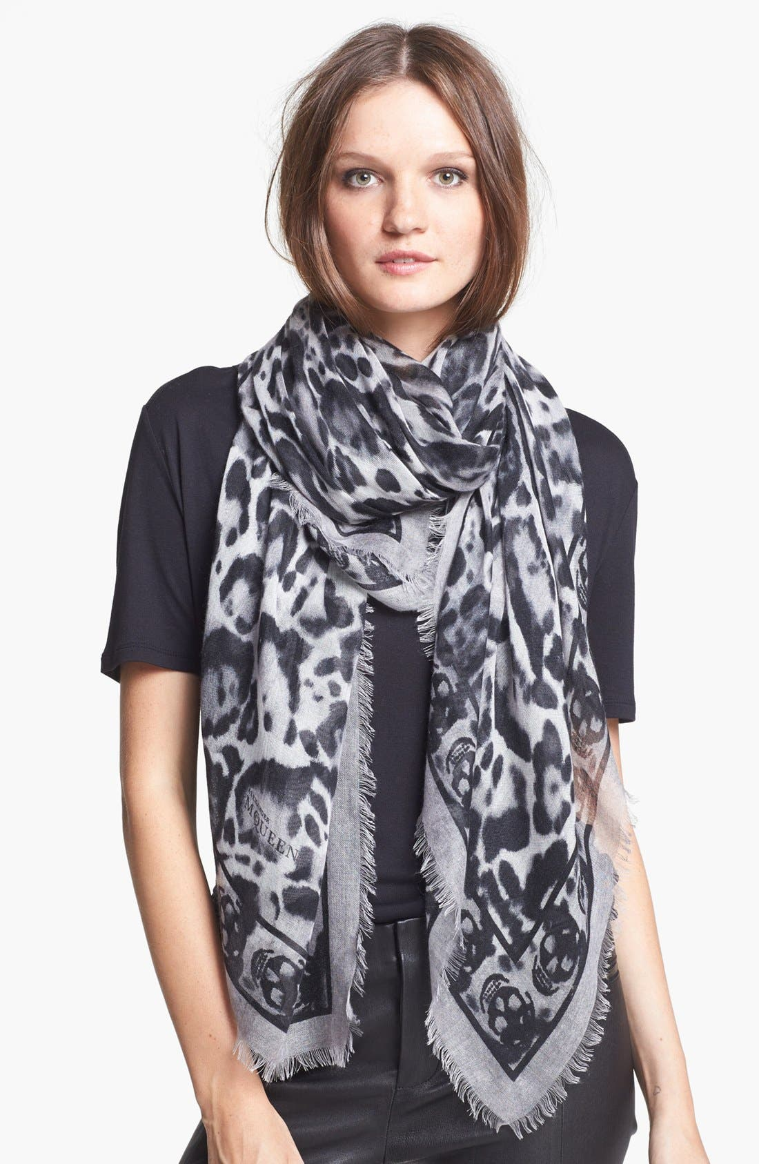 Alternate Image 1 Selected - Alexander McQueen 'Animalier Skull' Scarf