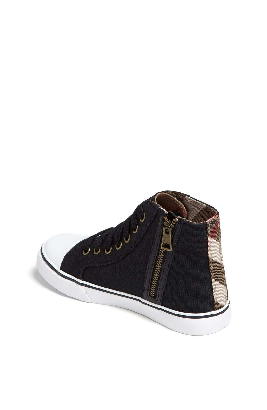 Alternate Image 2  - Burberry 'Blaze' High Top Sneaker (Walker, Toddler & Little Kid)
