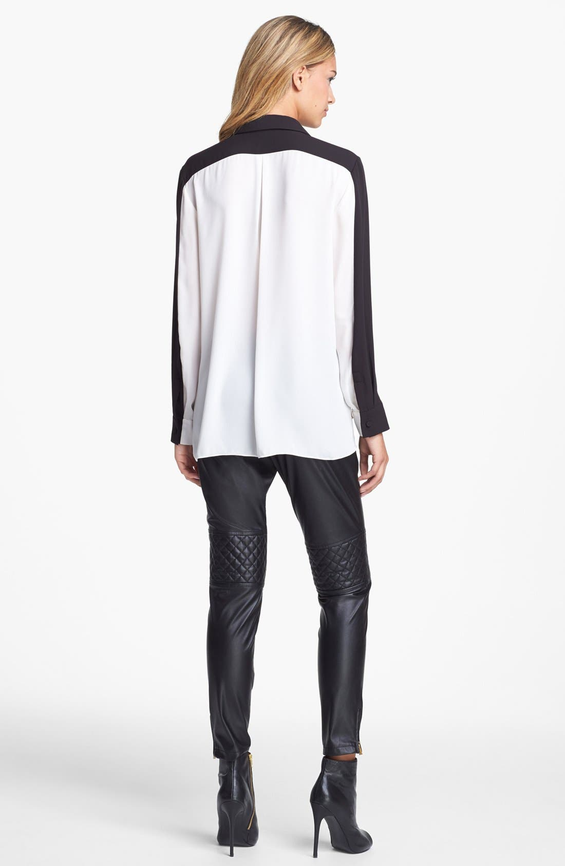Alternate Image 4  - Vince Camuto Colorblock High/Low Blouse (Online Only)