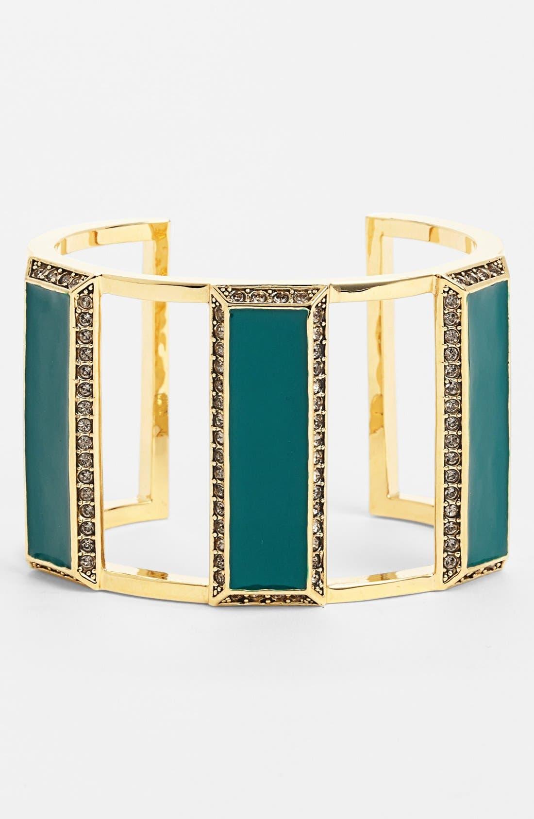 Alternate Image 1 Selected - St. John Collection Enamel & Swarovski Crystal Cuff