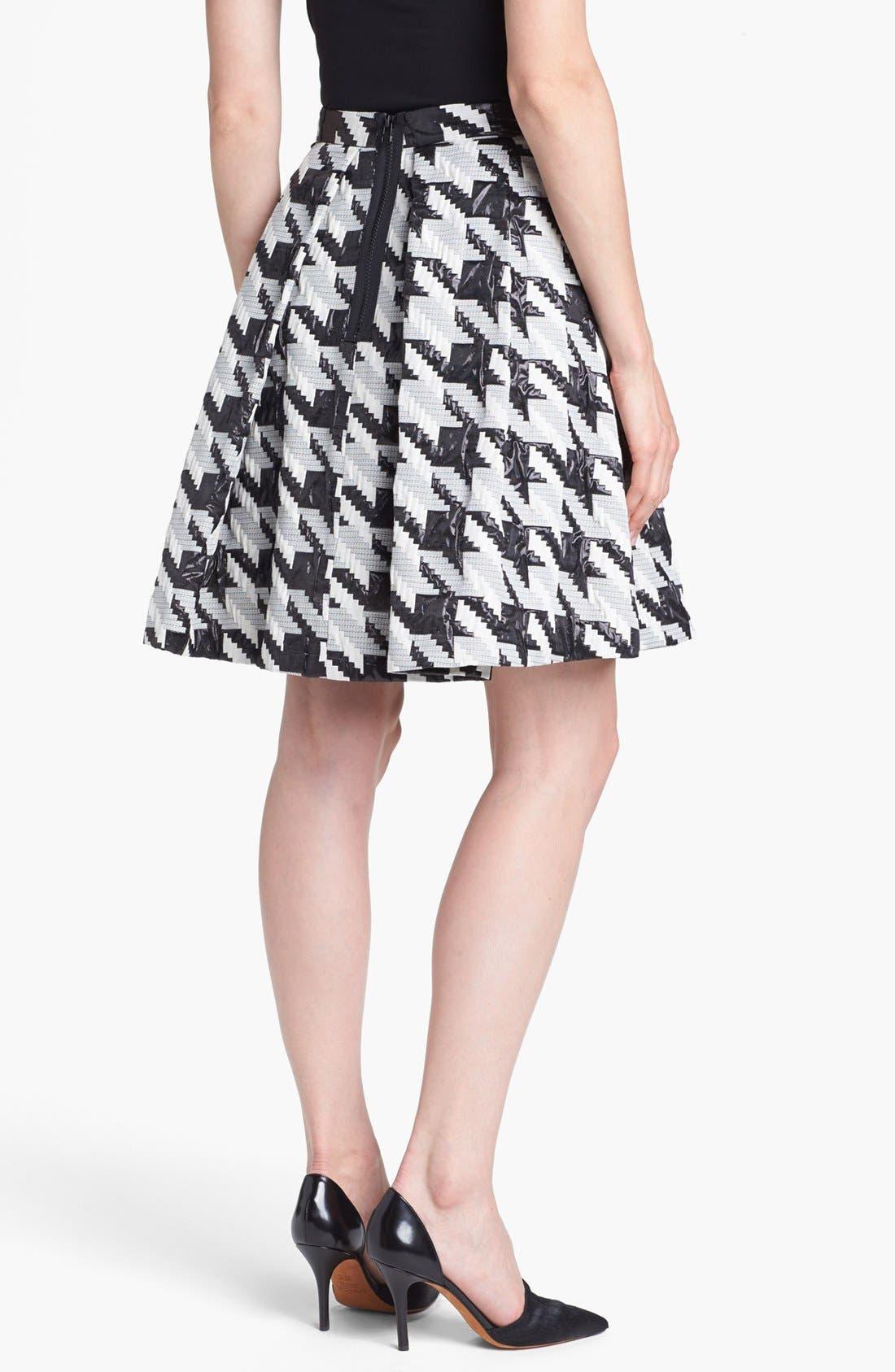 Alternate Image 2  - Pink Tartan Houndstooth Jacquard Pleat Skirt