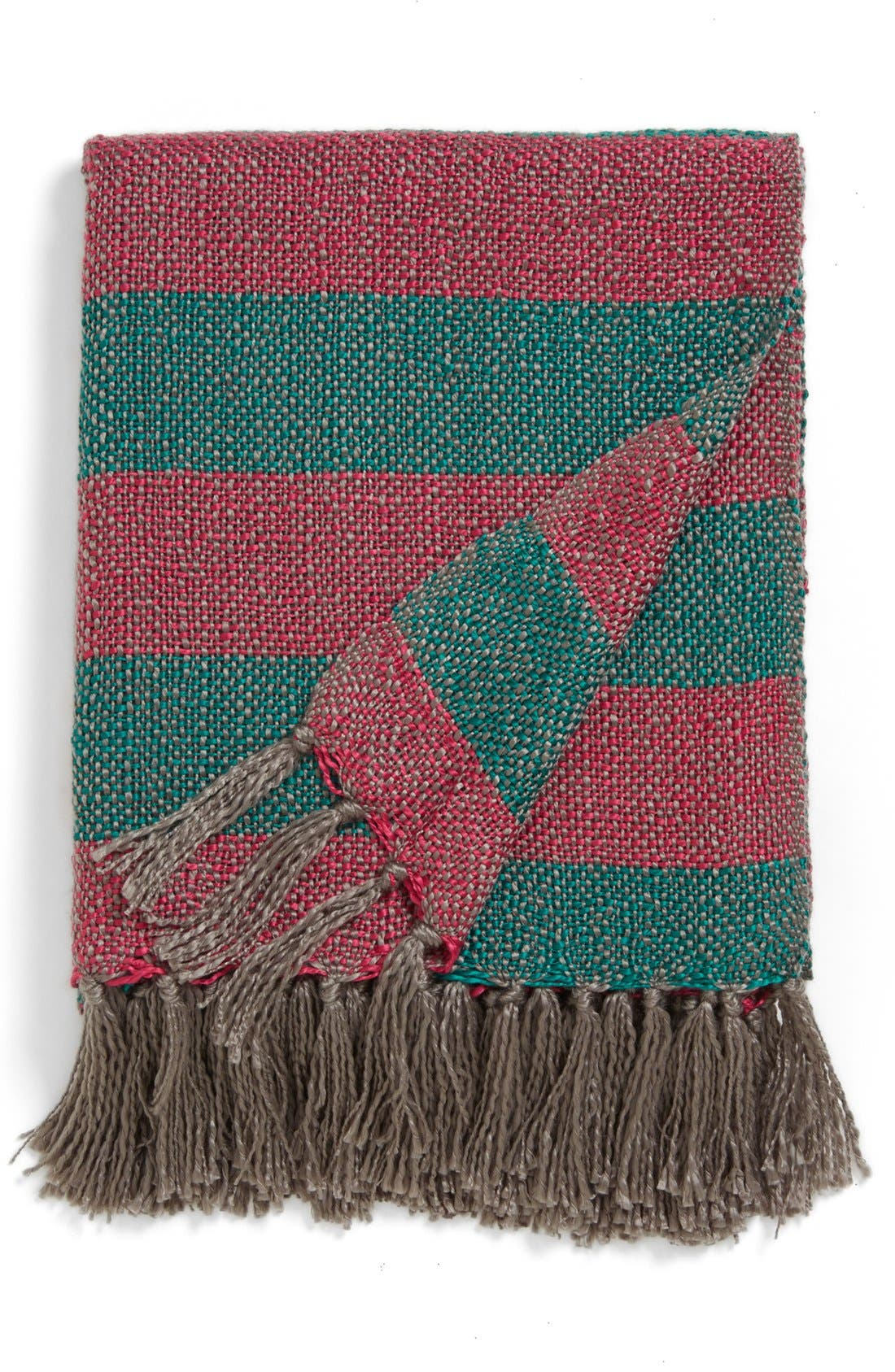 Alternate Image 1 Selected - Nordstrom at Home 'Candy Stripe' Woven Throw