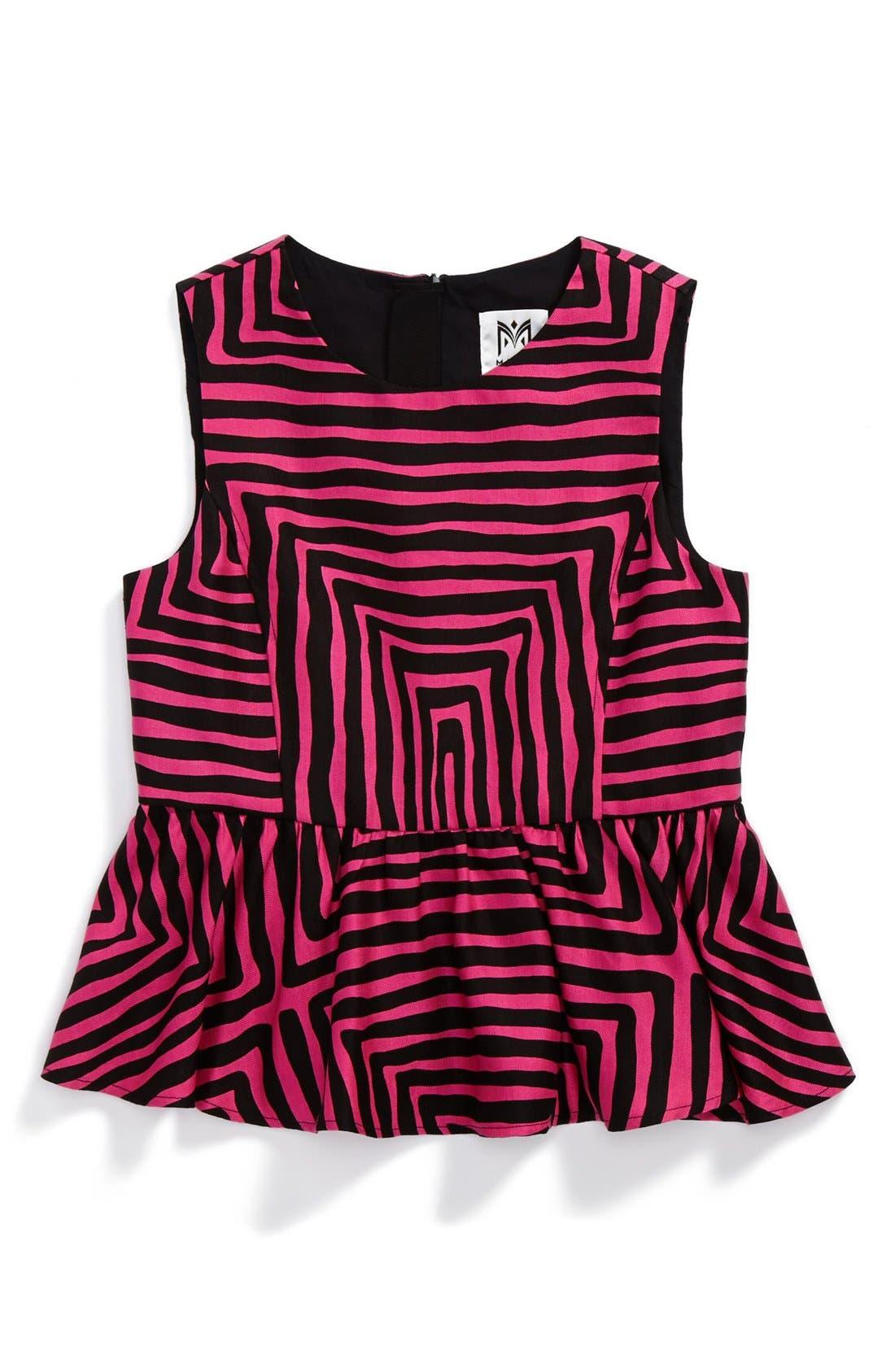 Alternate Image 1 Selected - Milly Minis 'Pippa' Peplum Top (Toddler Girls, Little Girls & Big Girls)