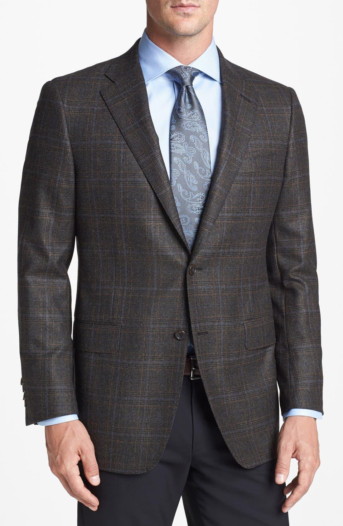 Main Image - Hickey Freeman 'B Series' Classic Fit Plaid Sportcoat