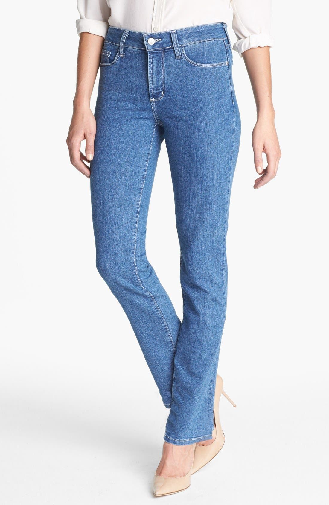 Main Image - NYDJ 'Sheri' Embellished Pocket Stretch Skinny Jeans (Maryland)