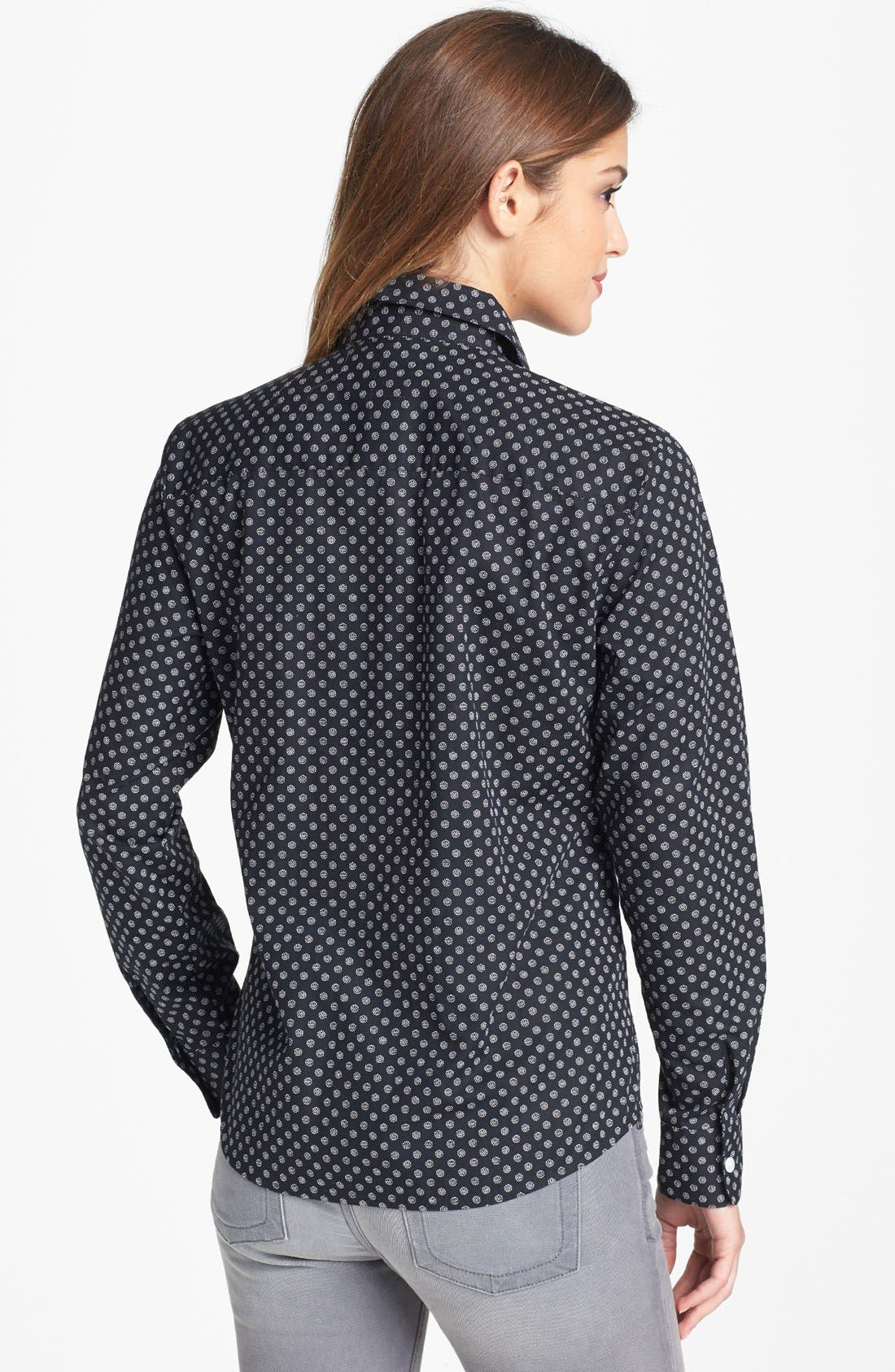 Alternate Image 2  - Foxcroft 'Essentials Dot' Print Shirt (Petite)