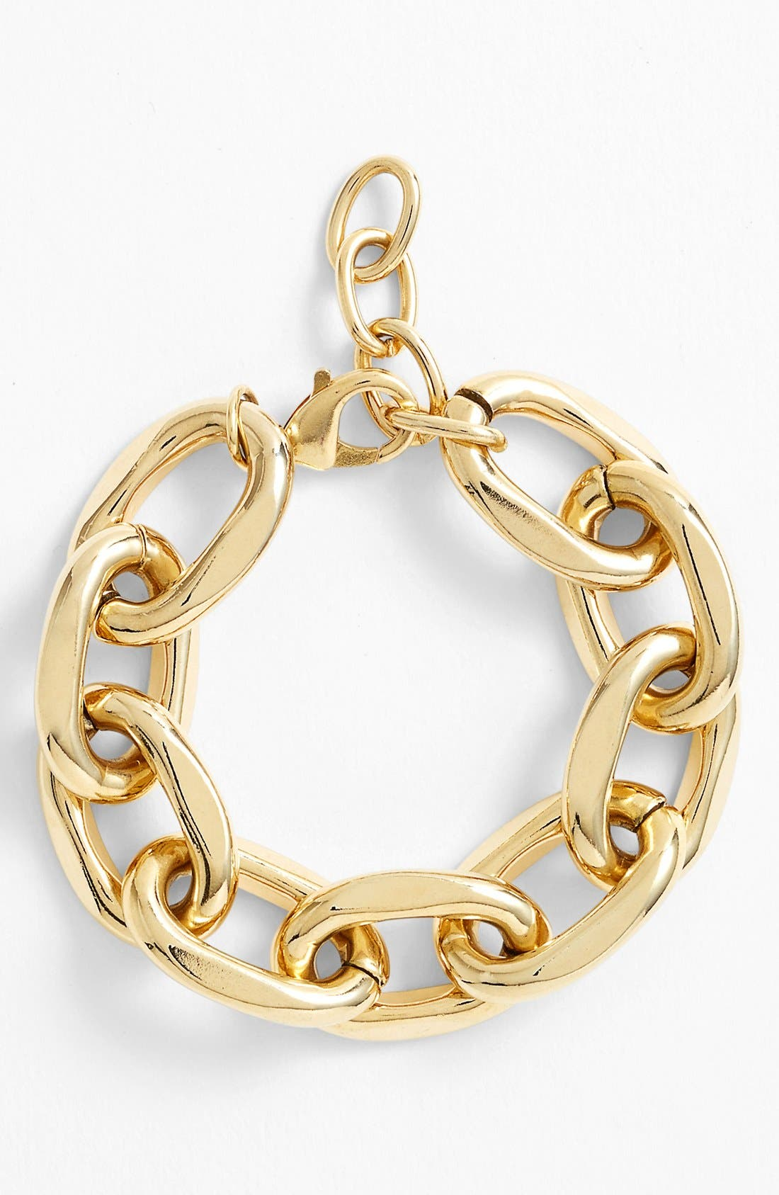 Chunky Link Bracelet,                         Main,                         color, Gold