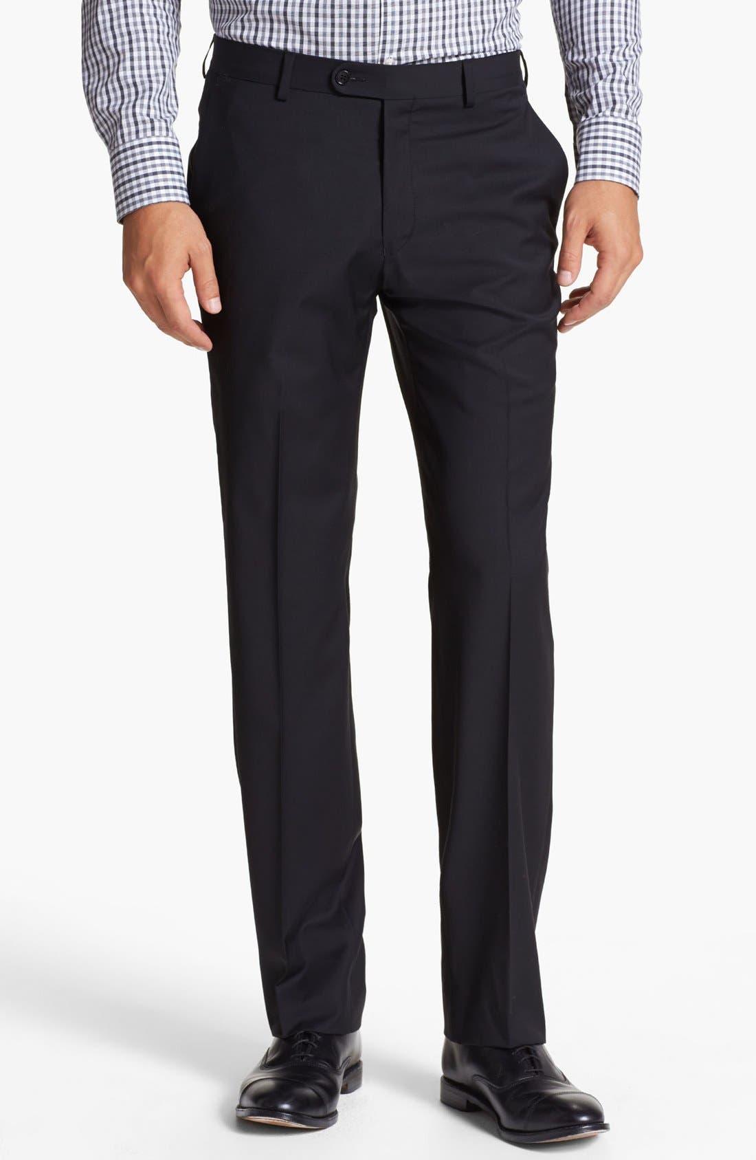 Alternate Image 1 Selected - John Varvatos Star USA 'Astor' Flat Front Wool Trousers