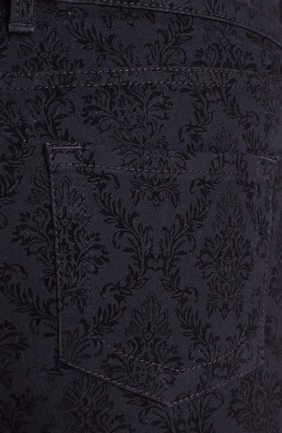 Alternate Image 3  - KUT from the Kloth Print Skinny Jeans (Black Brocade Print)