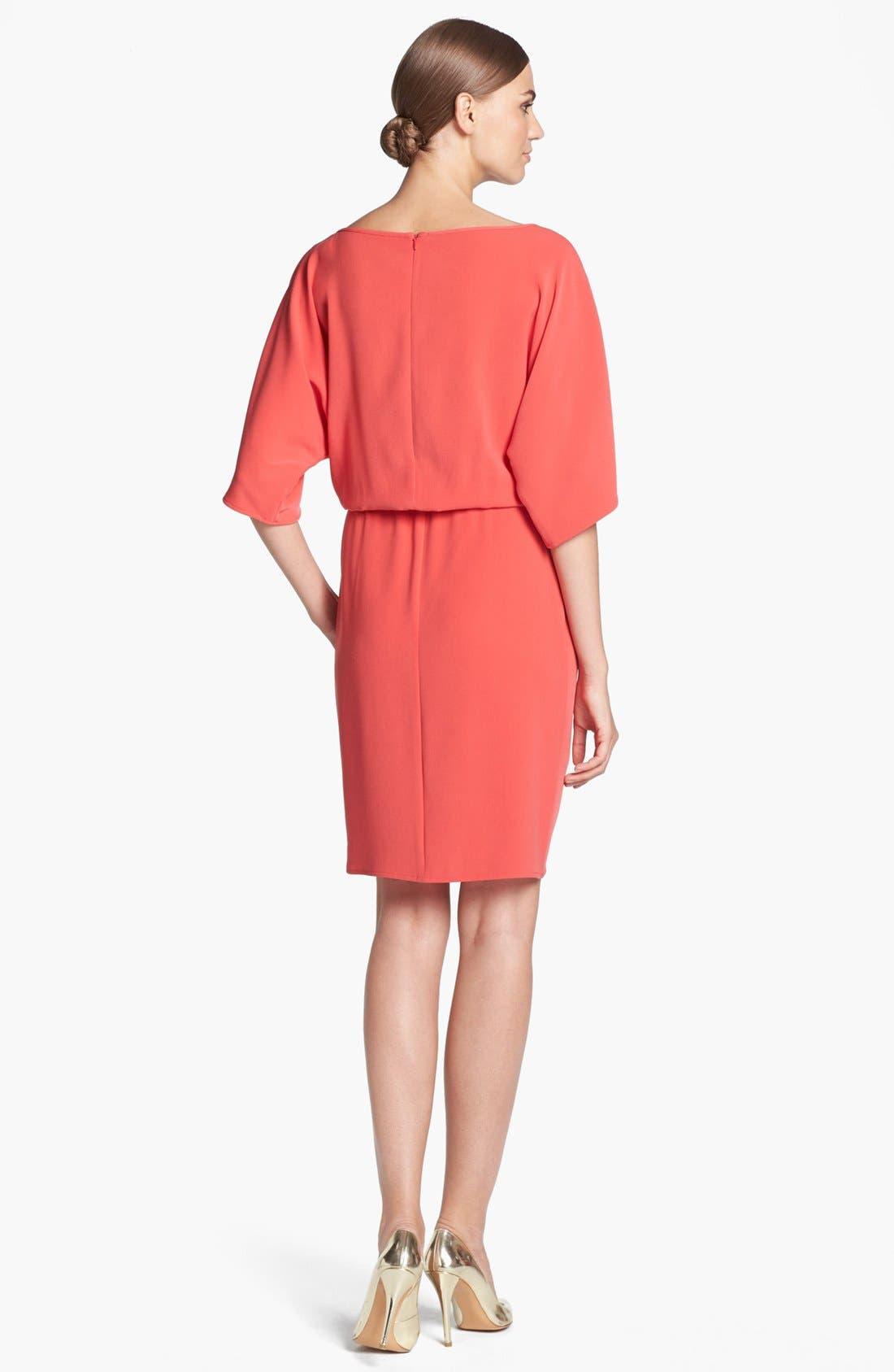 Alternate Image 2  - St. John Collection Kimono Sleeve Luxe Crepe Dress