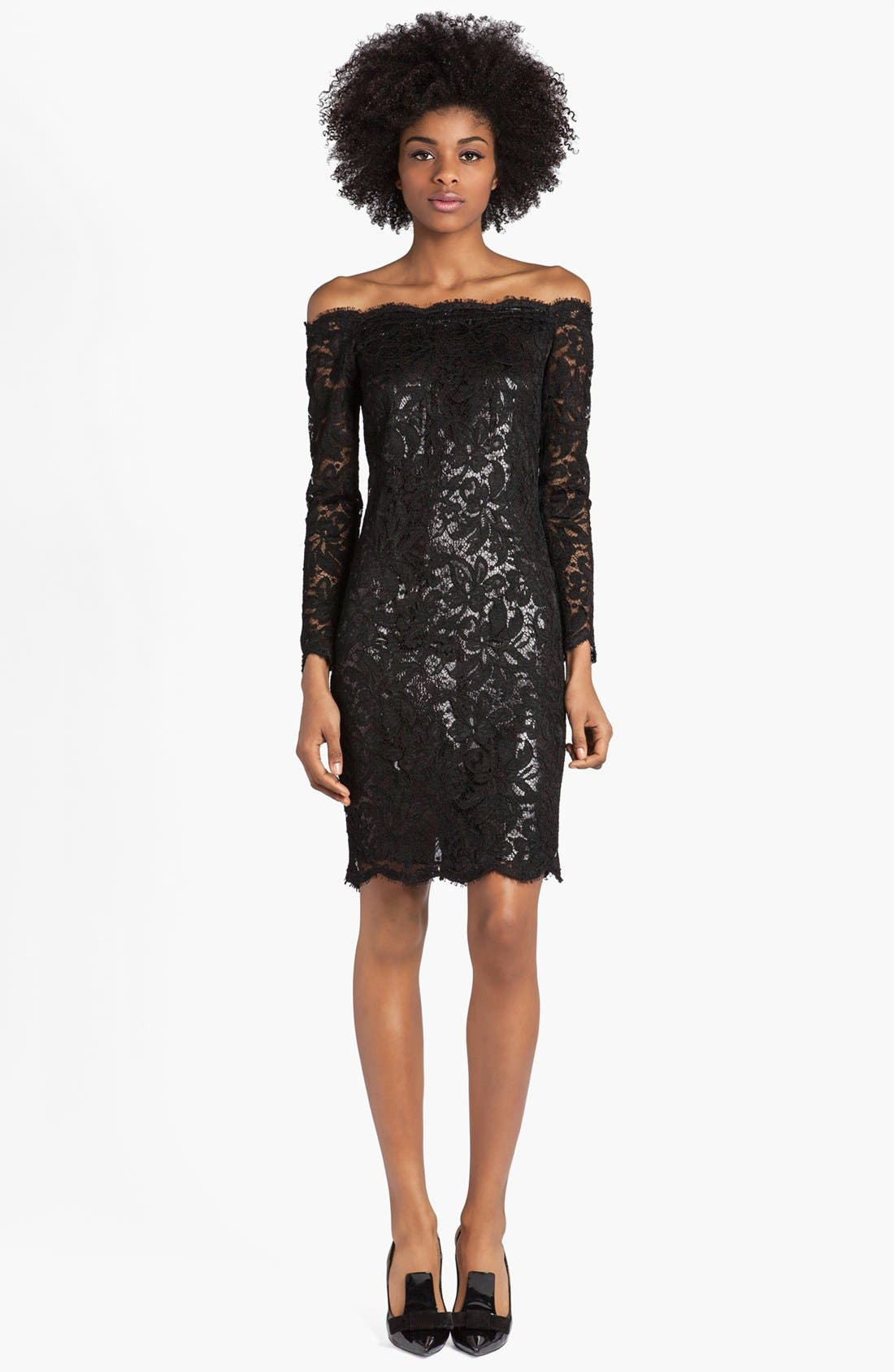 Main Image - Emilio Pucci Lace & Lamé Off Shoulder Dress