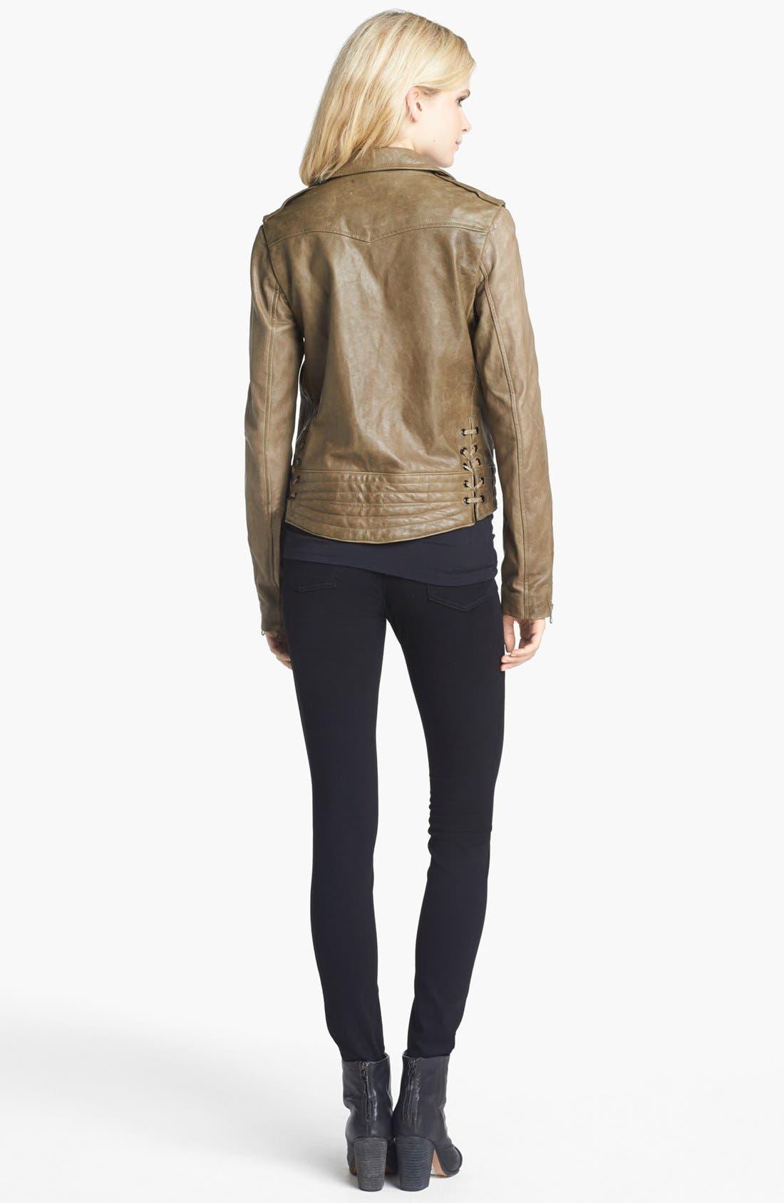 Alternate Image 5  - rag & bone 'Bowery' Leather Moto Jacket