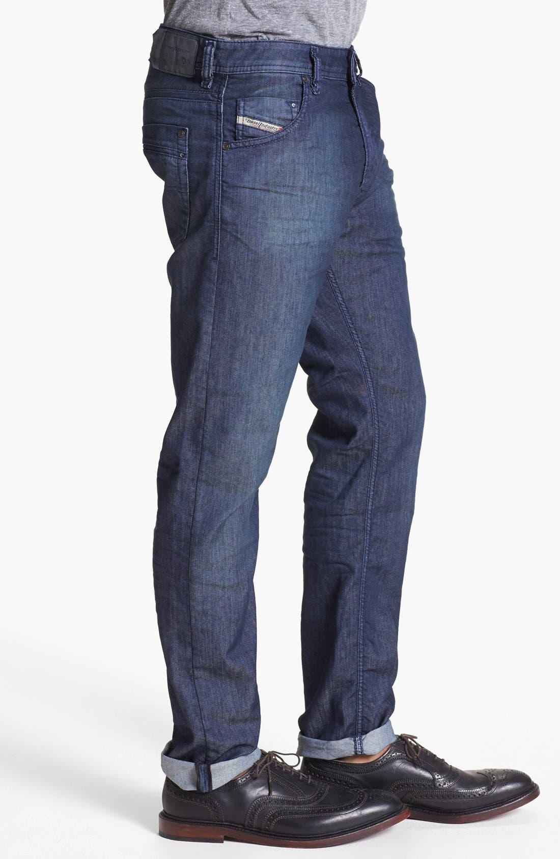 Alternate Image 3  - DIESEL® 'Krayver' Slim Fit Selvedge Jeans (Blue)