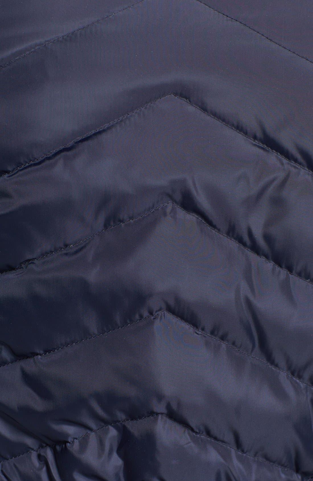 Alternate Image 3  - Sam Edelman Faux Fur Trim Belted Down Jacket