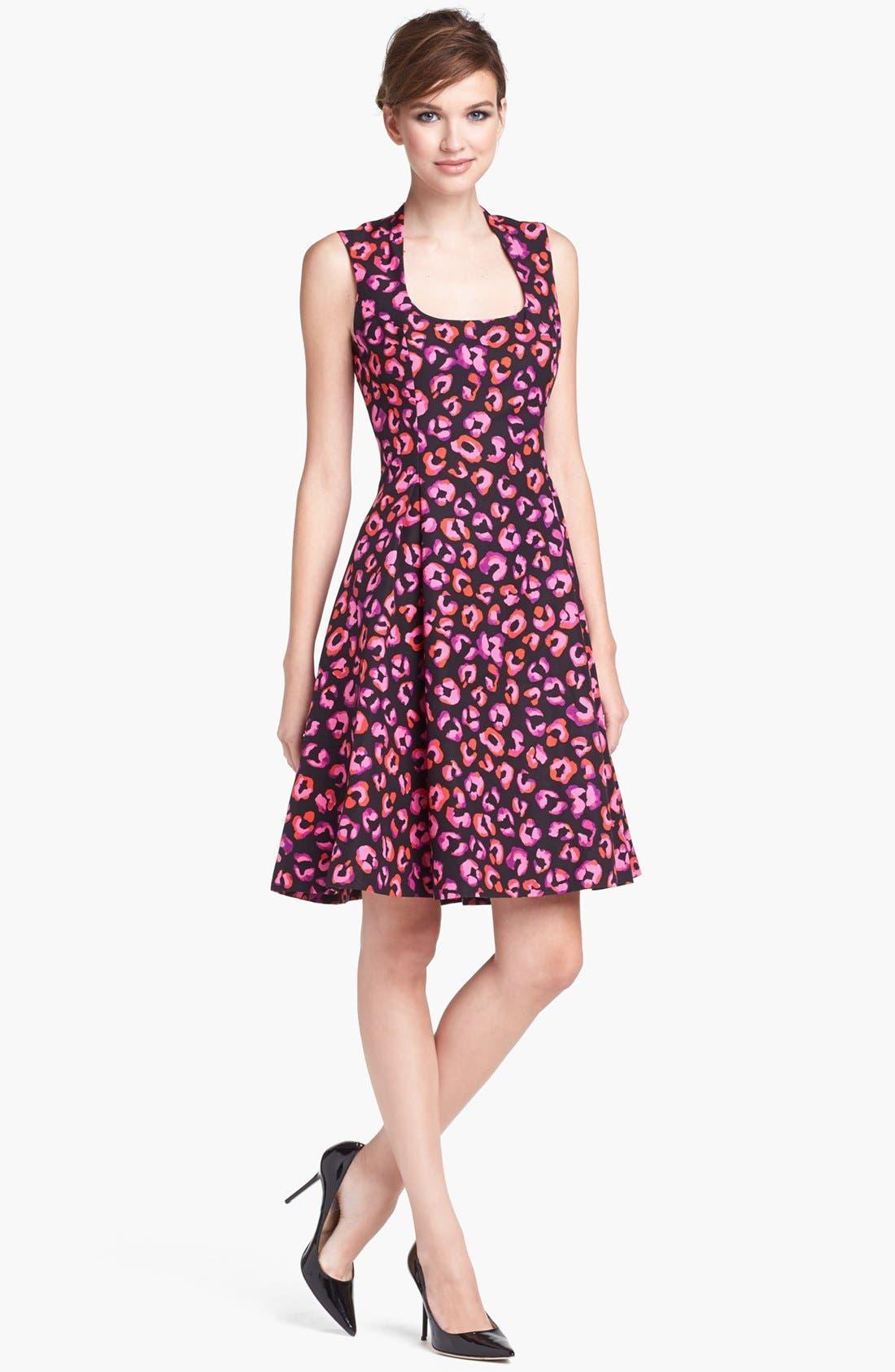Main Image - kate spade new york 'kimi' cotton & silk a-line dress