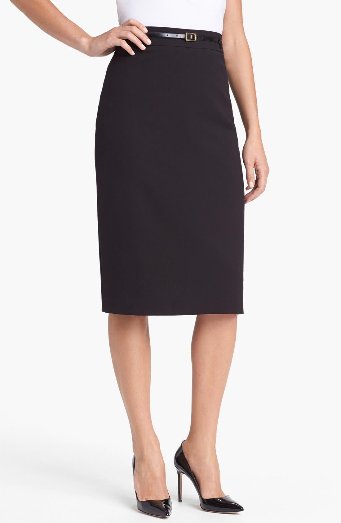 Main Image - Jones New York 'Jacqueline' Belted Column Skirt