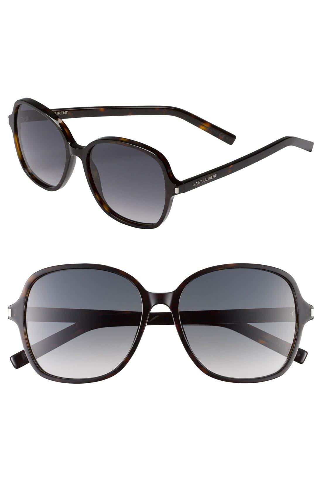Main Image - Saint Laurent 57mm Oversize Sunglasses