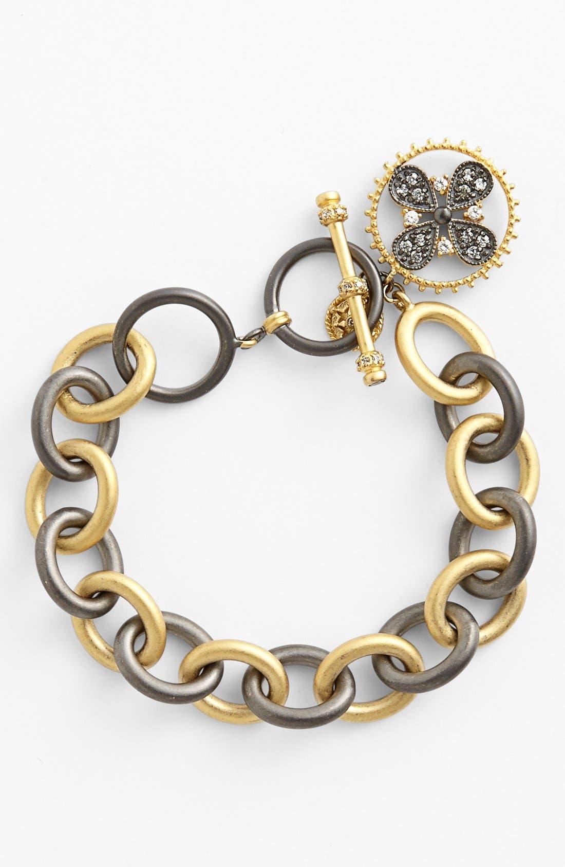 Main Image - FREIDA ROTHMAN 'Hamptons' Clover Charm Toggle Bracelet