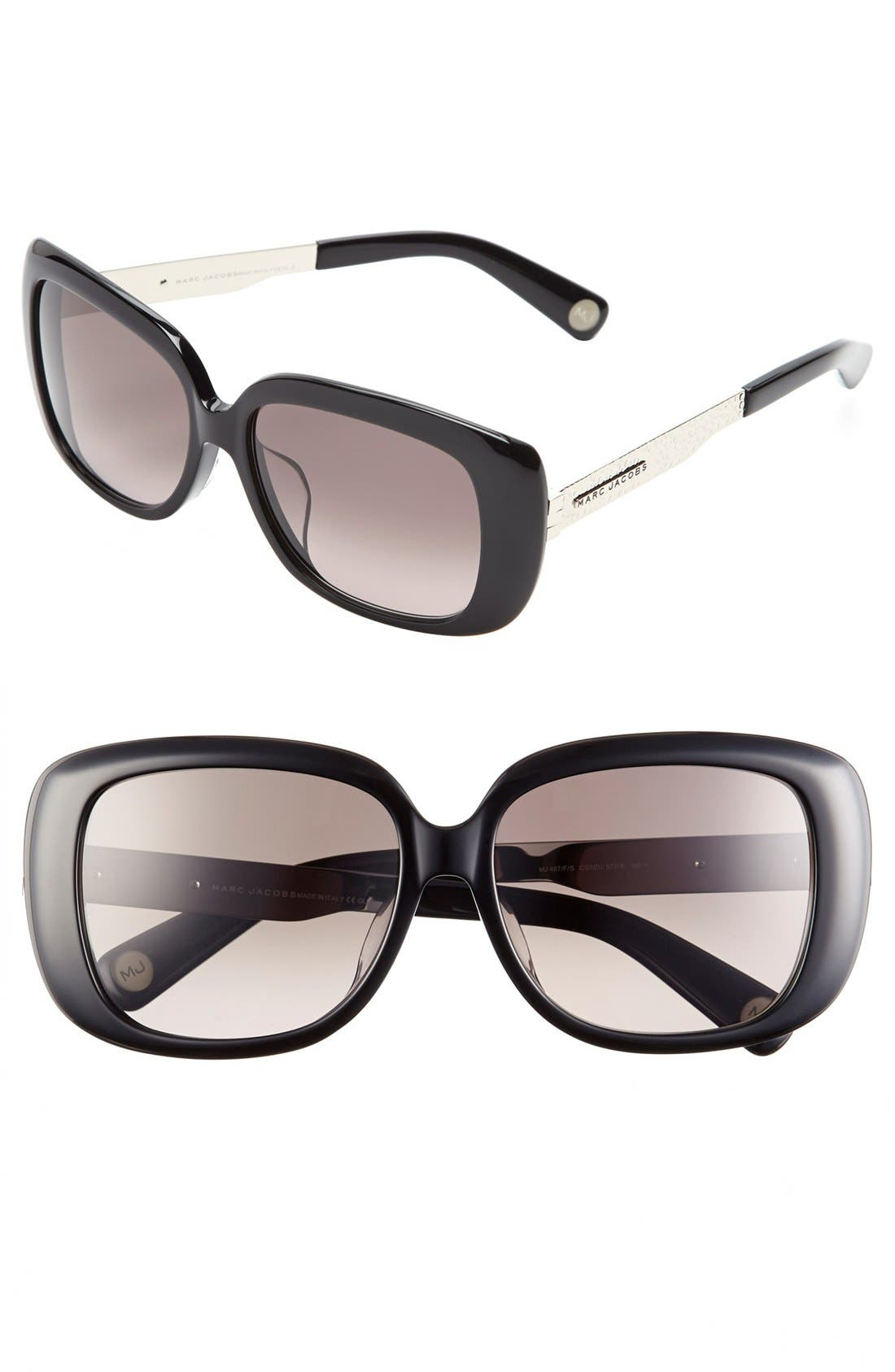 Alternate Image 1 Selected - MARC JACOBS 57mm Oversized Sunglasses