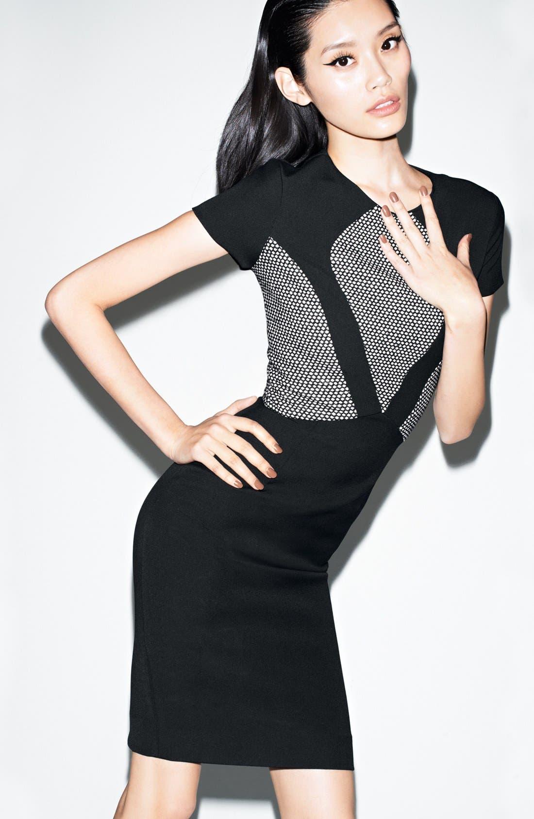 Alternate Image 4  - L'AGENCE Fabric Block Dress