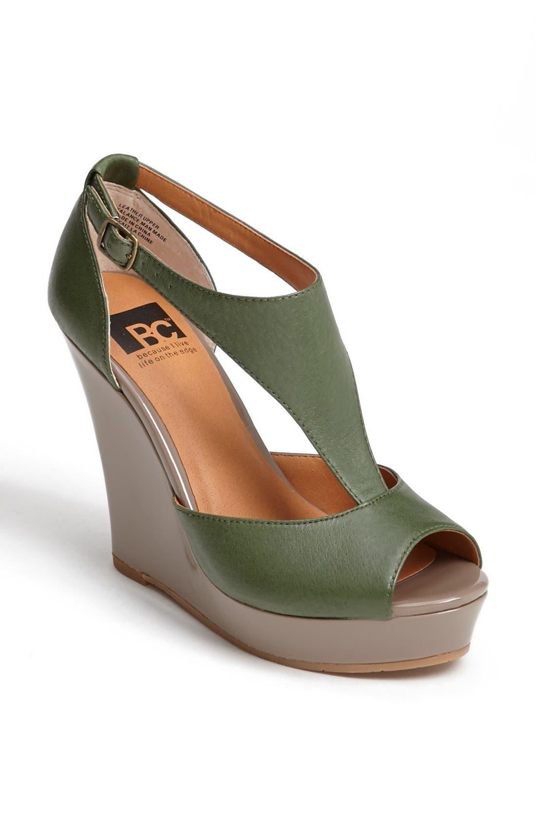 Alternate Image 1 Selected - BC Footwear 'Lickety Split' Wedge Sandal