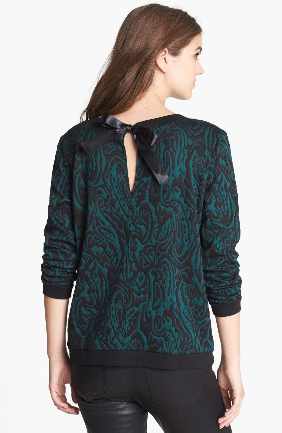 Alternate Image 2  - Hinge® Bow Back Jacquard Sweatshirt
