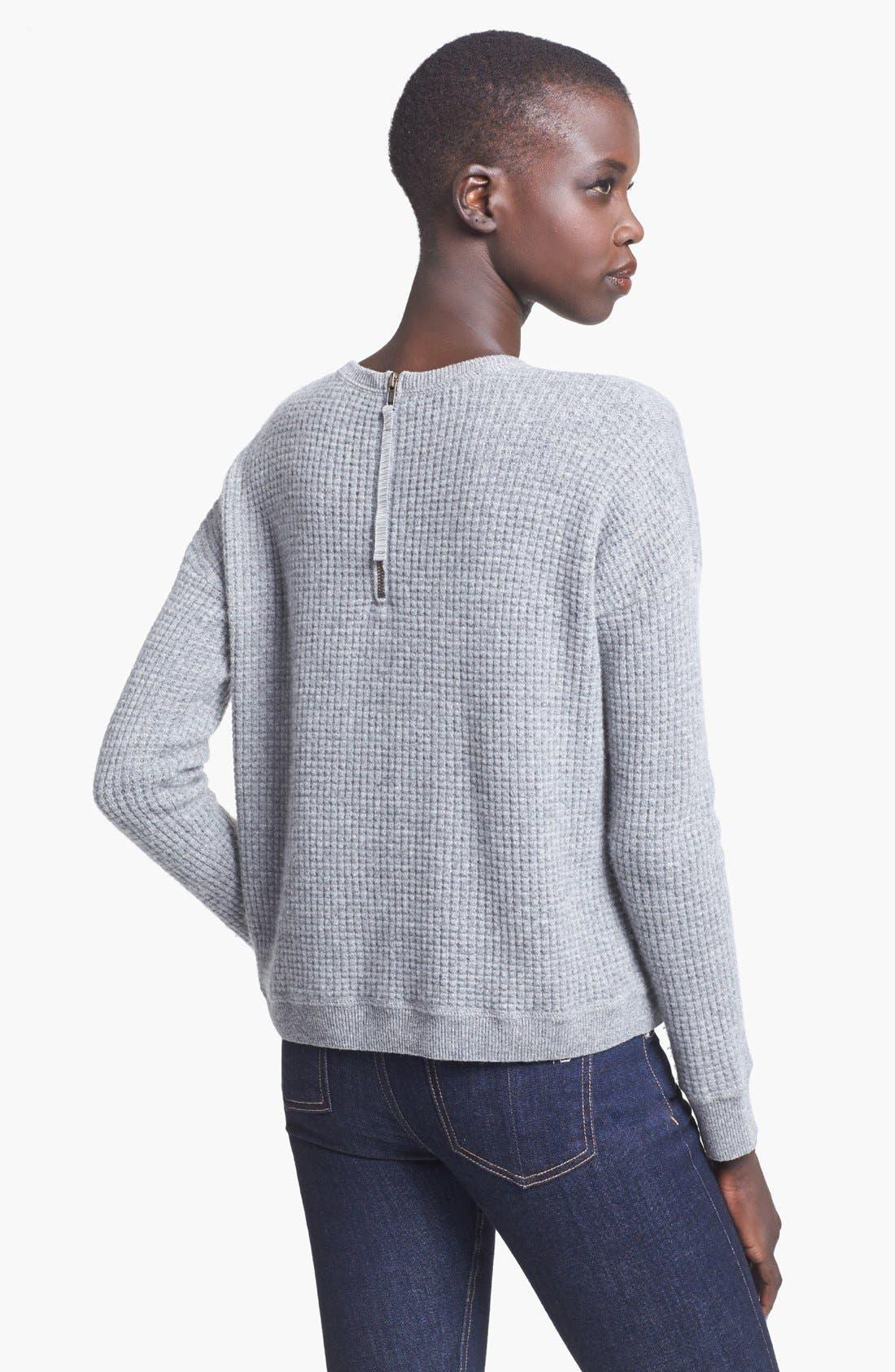 Alternate Image 2  - autumn cashmere Thermal Cashmere Sweatshirt