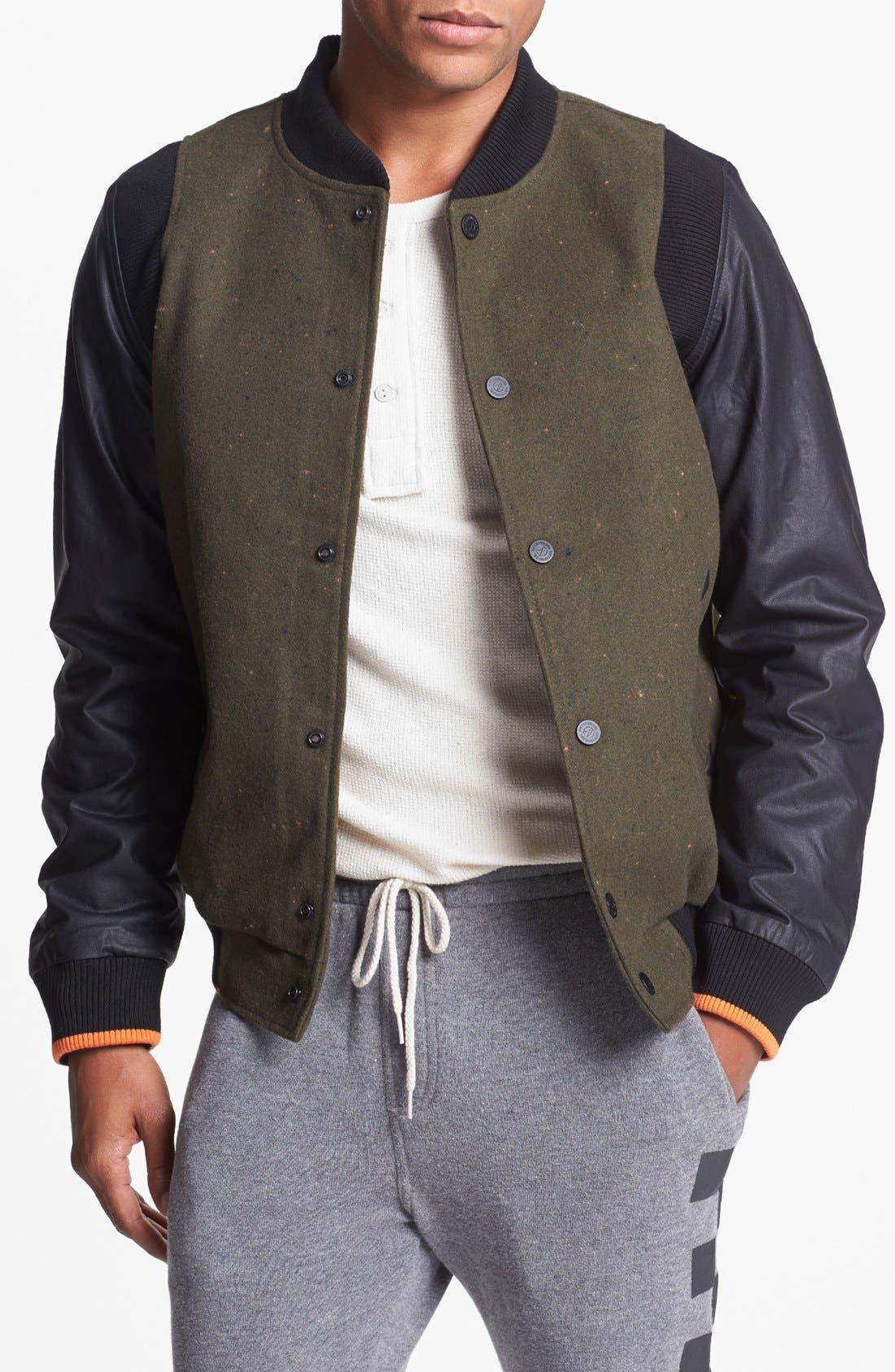 Main Image - 55DSL 'Jomstone' Varsity Jacket
