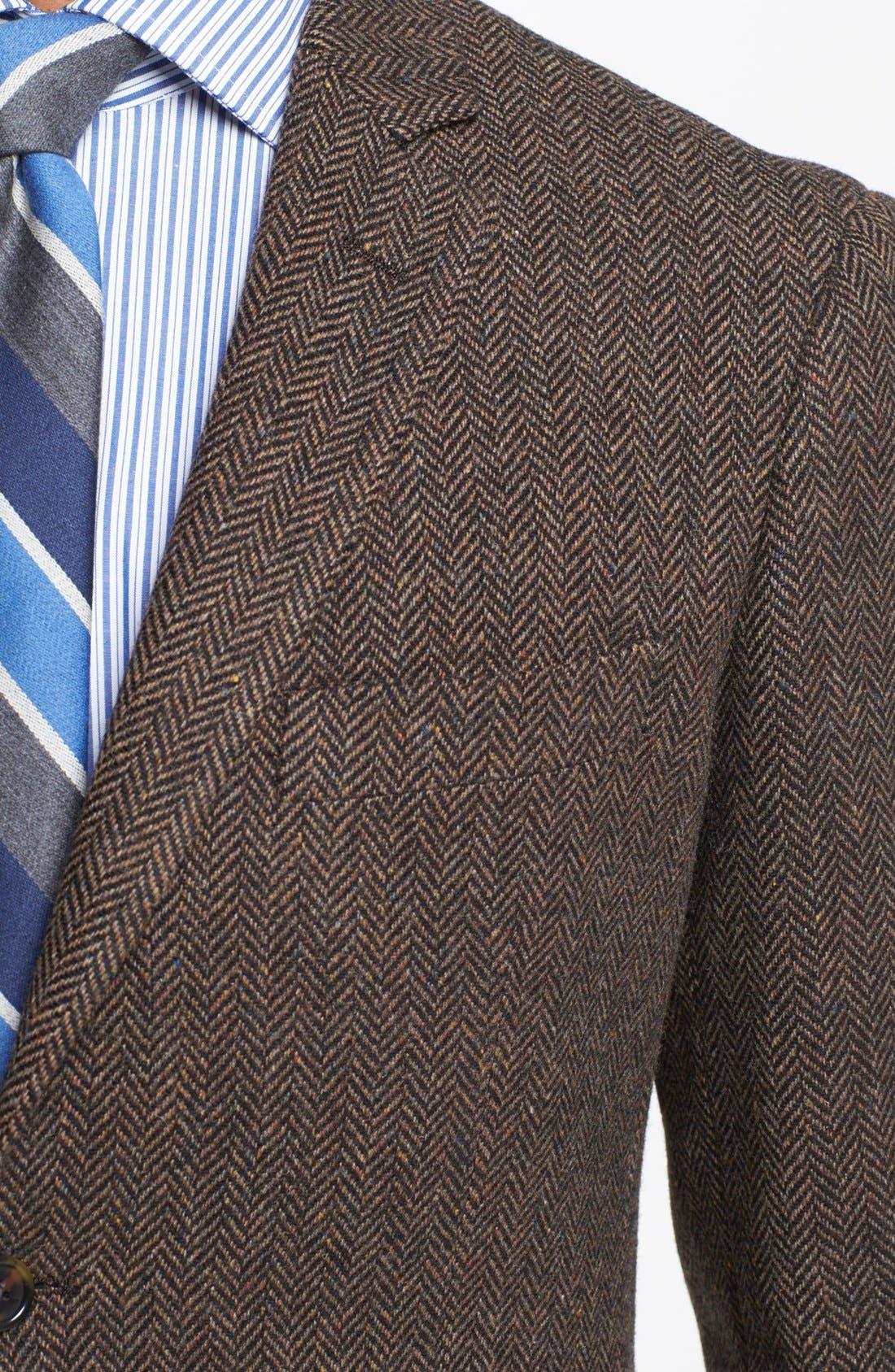 Alternate Image 2  - Wallin & Bros. Extra Trim Fit Herringbone Sportcoat
