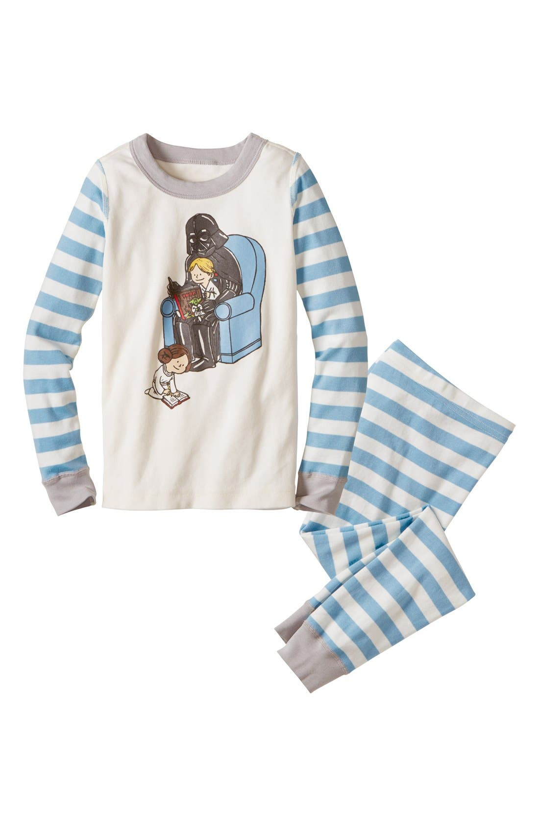 Main Image - Hanna Andersson 'Stars Wars™ Fitted Darth Vader & Son' Pajamas (Little Boys & Big Boys)