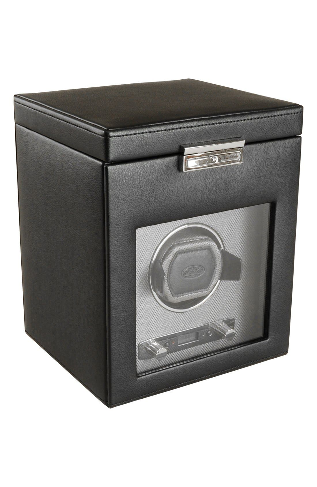 Viceroy Watch Winder & Storage Space,                         Main,                         color, Black