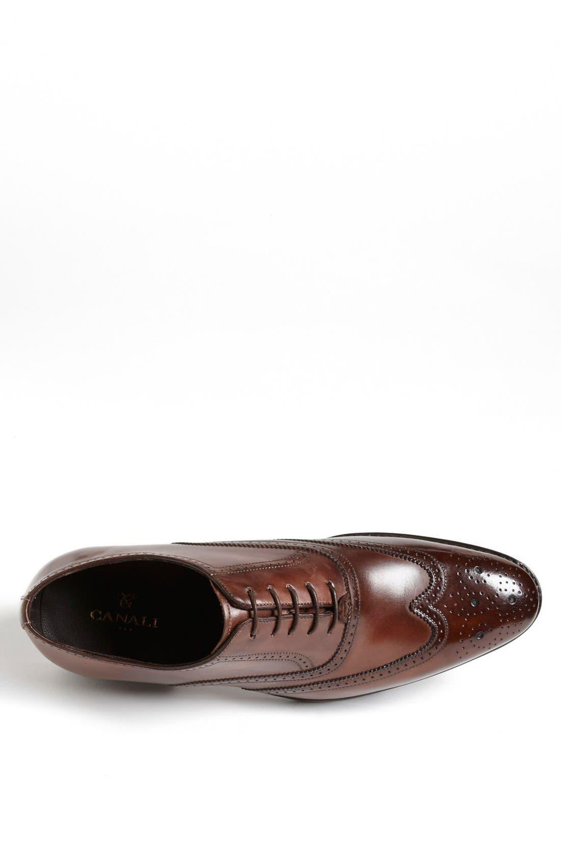Alternate Image 3  - Canali Leather Wingtip (Men)