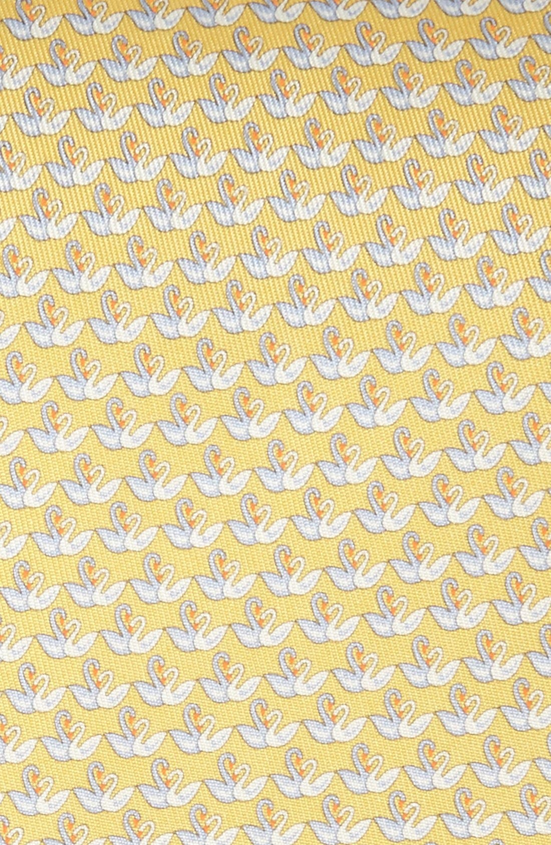 Alternate Image 2  - Salvatore Ferragamo Swan Print Silk Tie