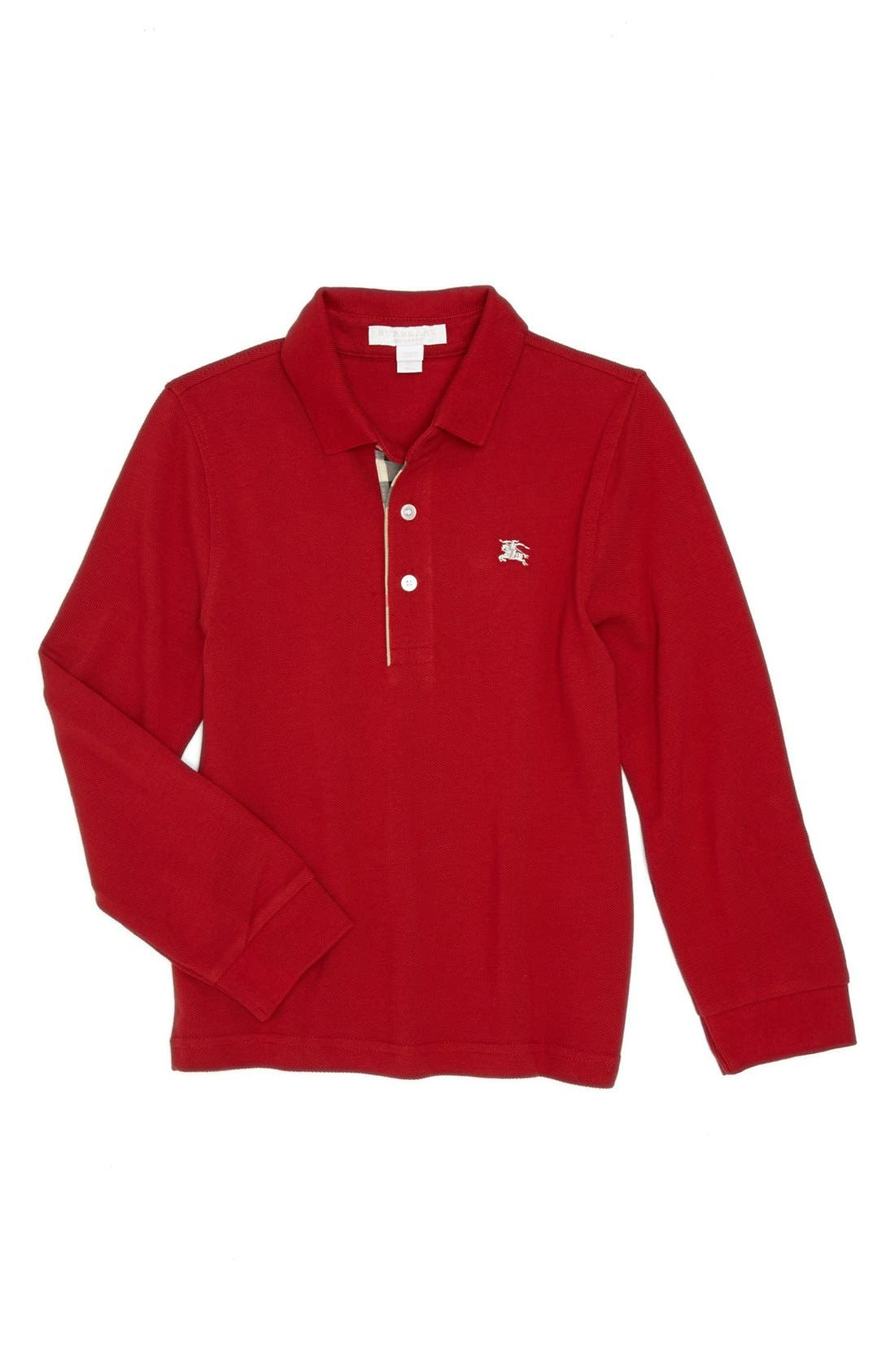 Main Image - Burberry Long Sleeve Polo (Little Boys & Big Boys)