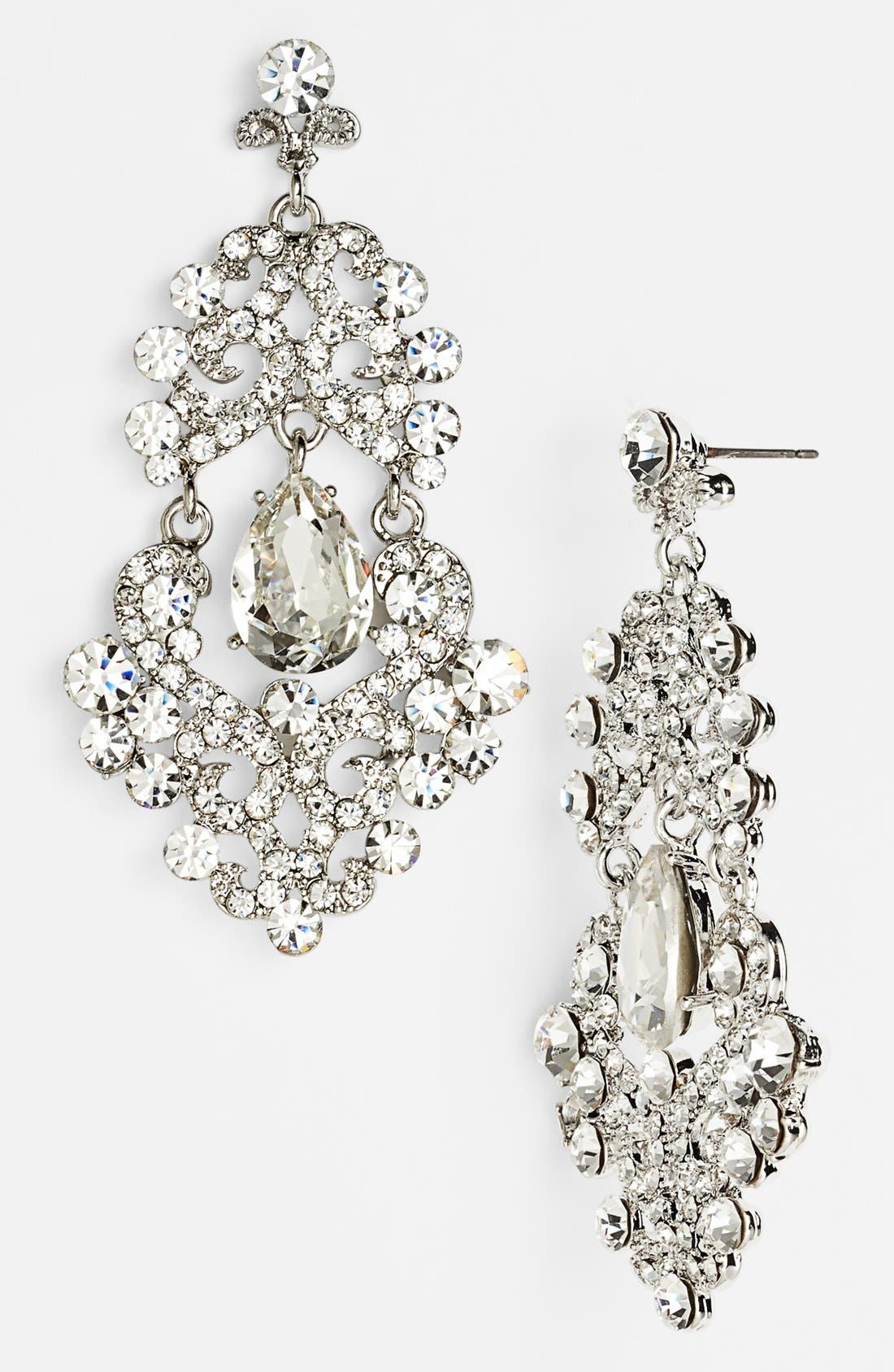 Main Image - Tasha Ornate Chandelier Earrings