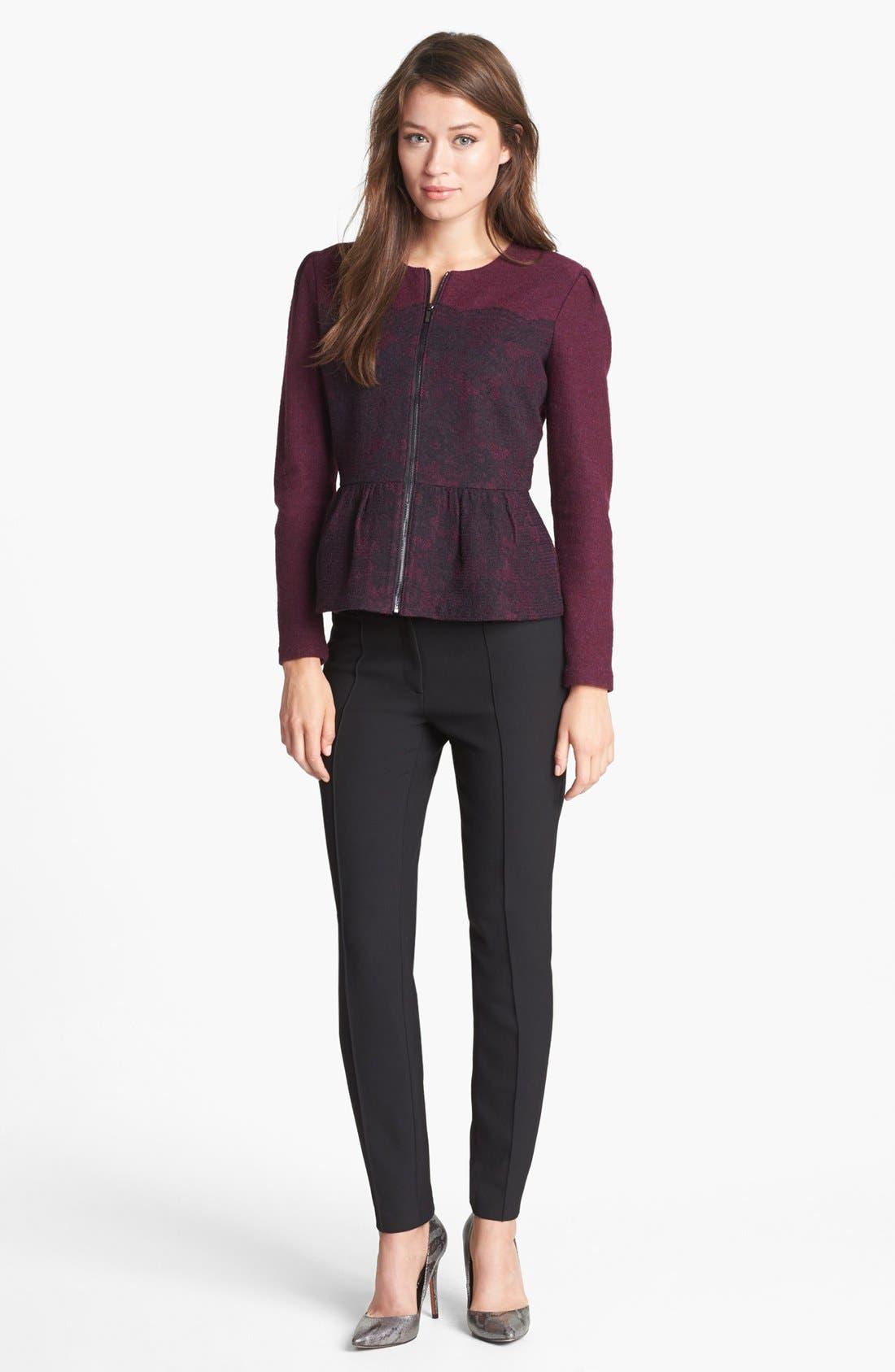 Alternate Image 3  - Classiques Entier® Merino & Lace Zip Cardigan