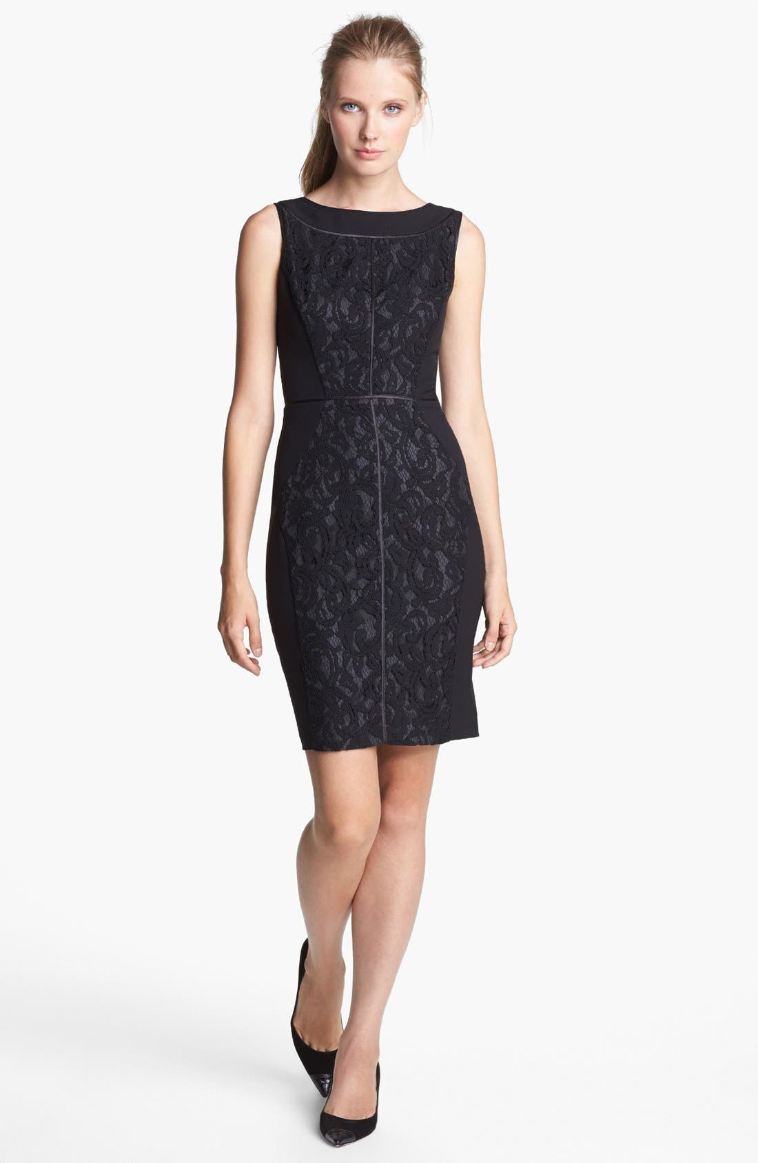 Alternate Image 1 Selected - Ellen Tracy Lace Sheath Dress