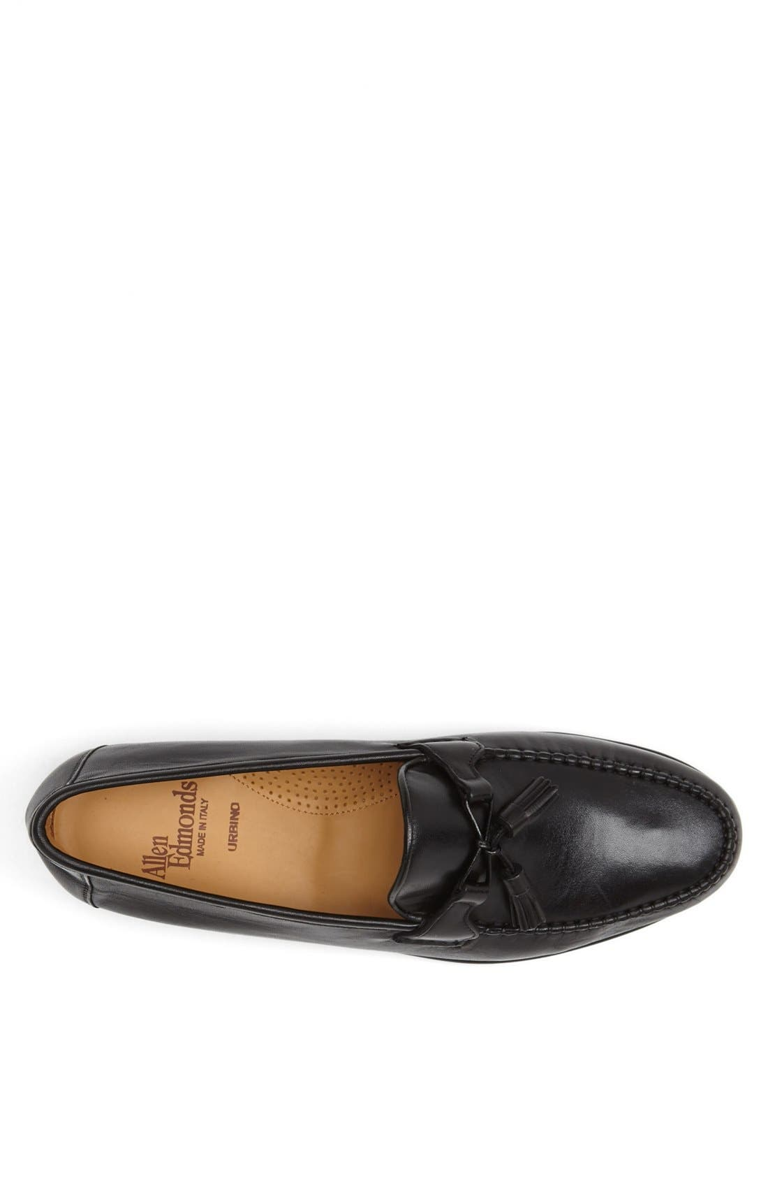 'Urbino' Tassel Loafer,                             Alternate thumbnail 3, color,                             Black