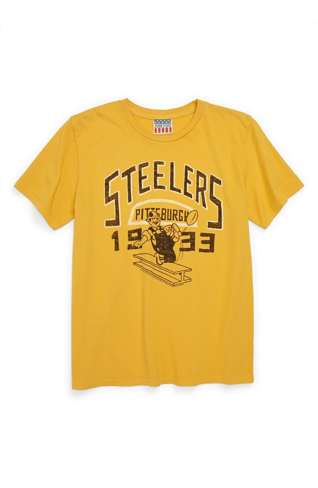 Alternate Image 1 Selected - Junk Food 'Pittsburgh Steelers' T-Shirt (Little Boys & Big Boys)