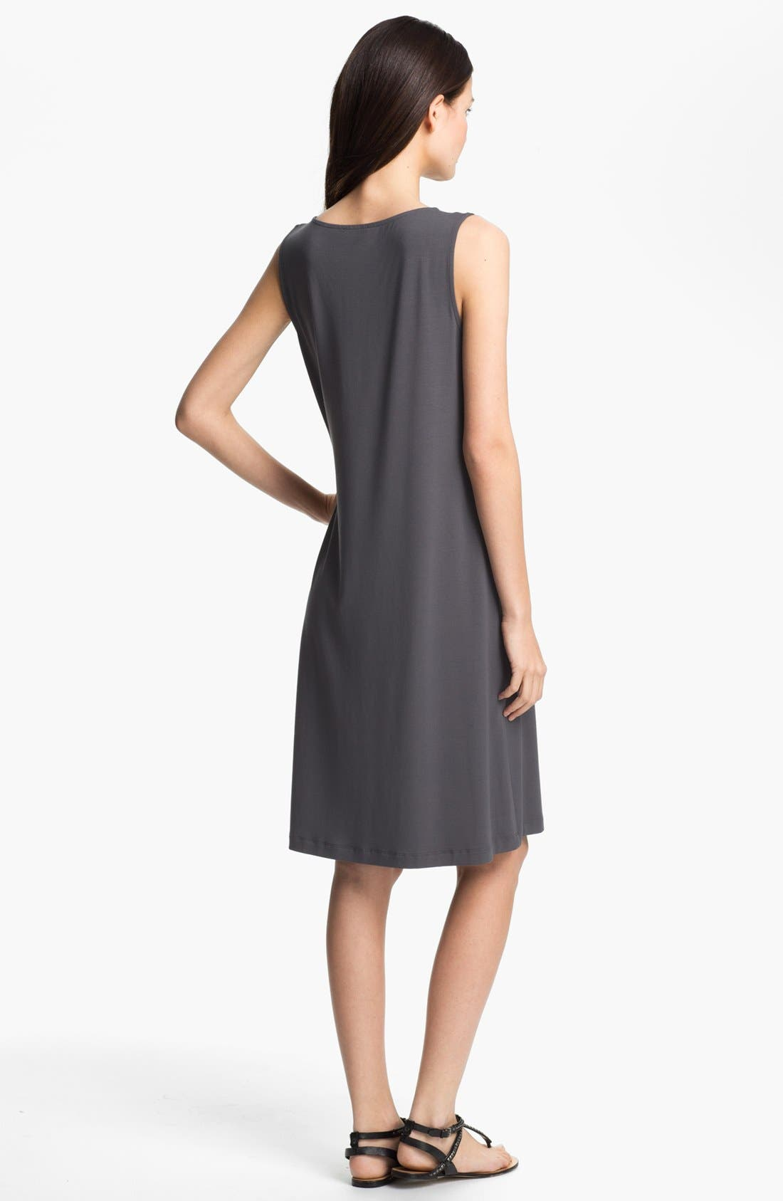 Alternate Image 2  - Eileen Fisher Jewel Neck Shift Dress (Petite)